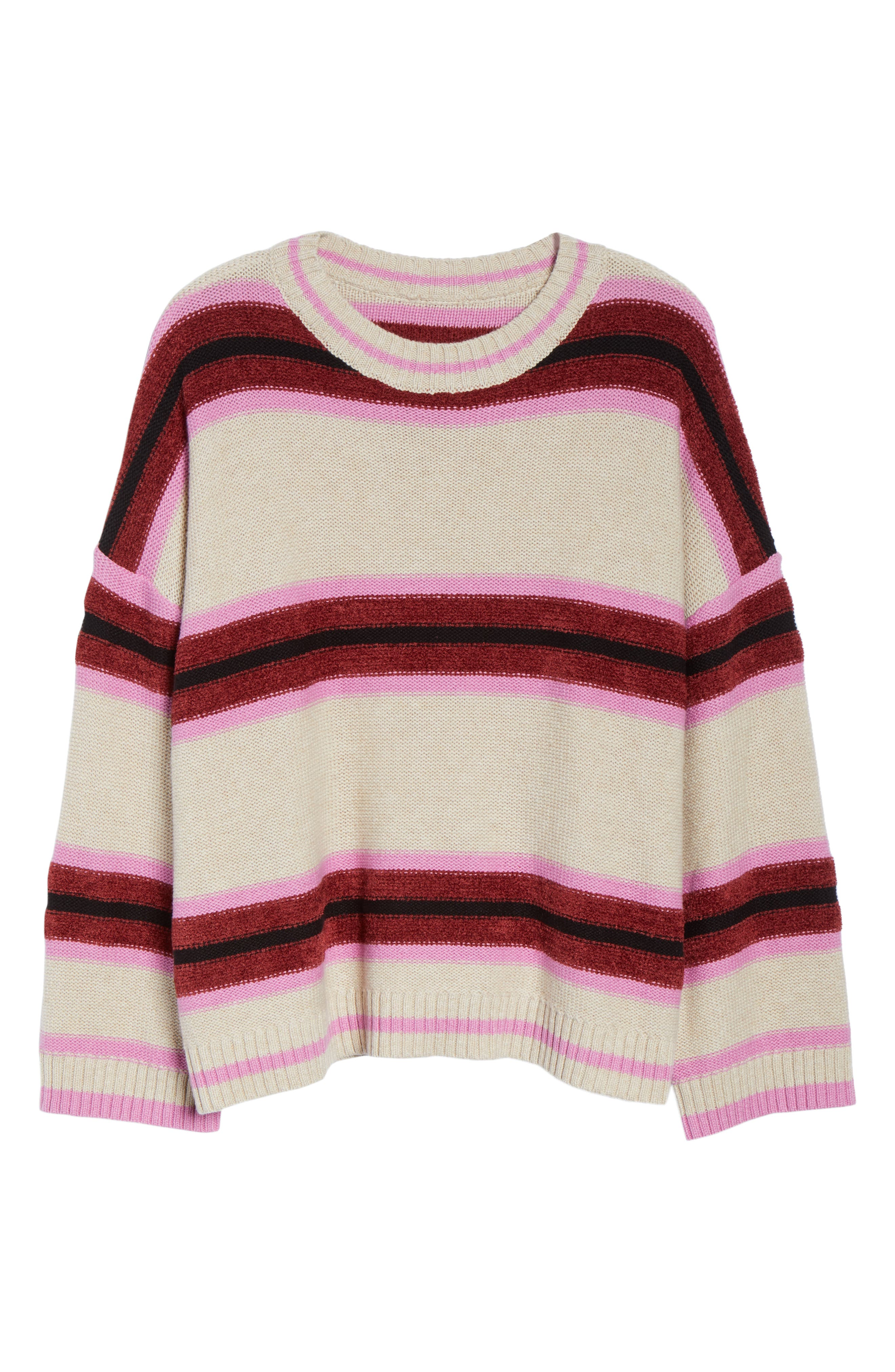 Everyday Stripe Sweater,                             Alternate thumbnail 6, color,                             BEIGE HEATHER ROBYN STRIPE