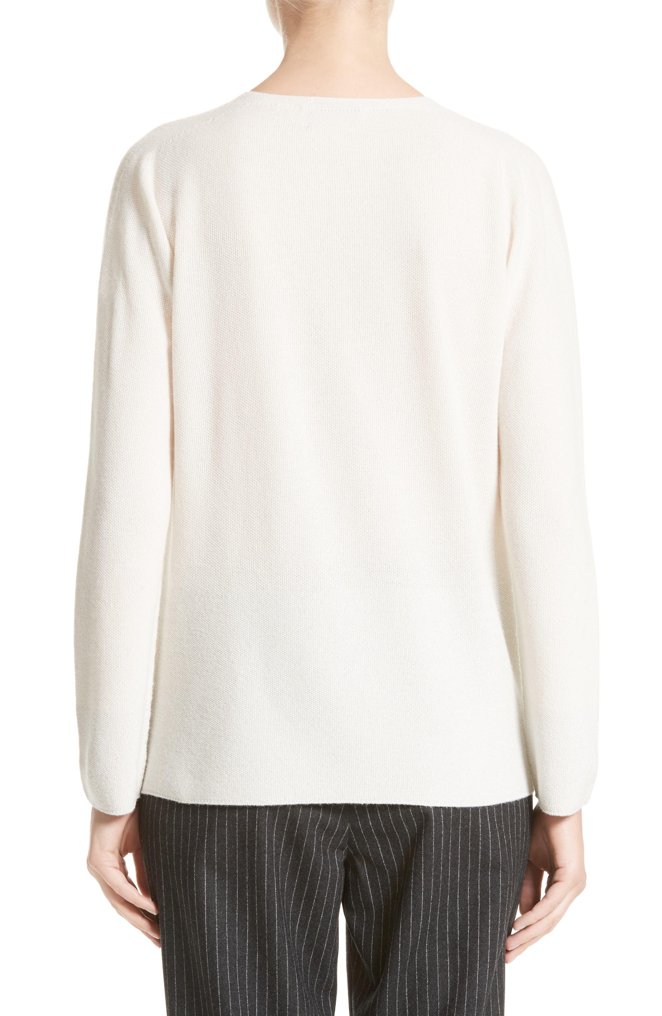 Wool, Silk & Cashmere Micro Popcorn Stitch Sweater,                             Alternate thumbnail 2, color,                             101