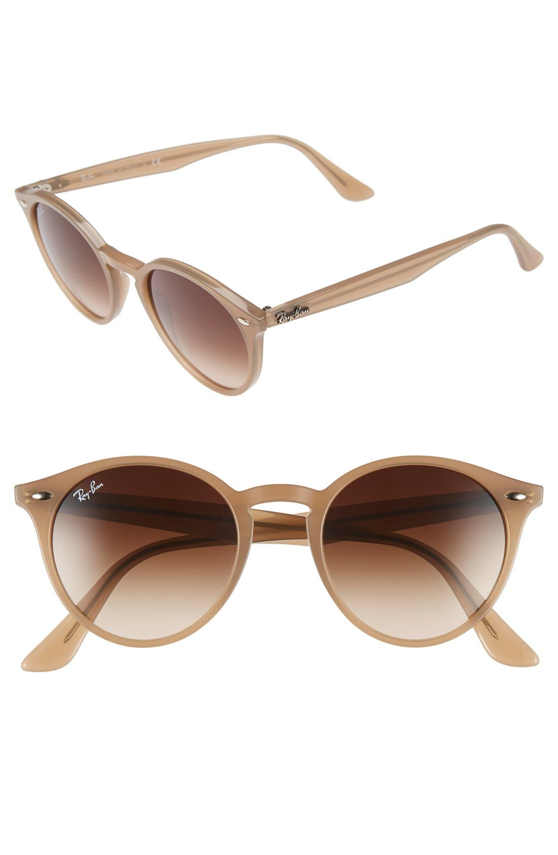 Highstreet 51mm Round Sunglasses,                             Main thumbnail 5, color,