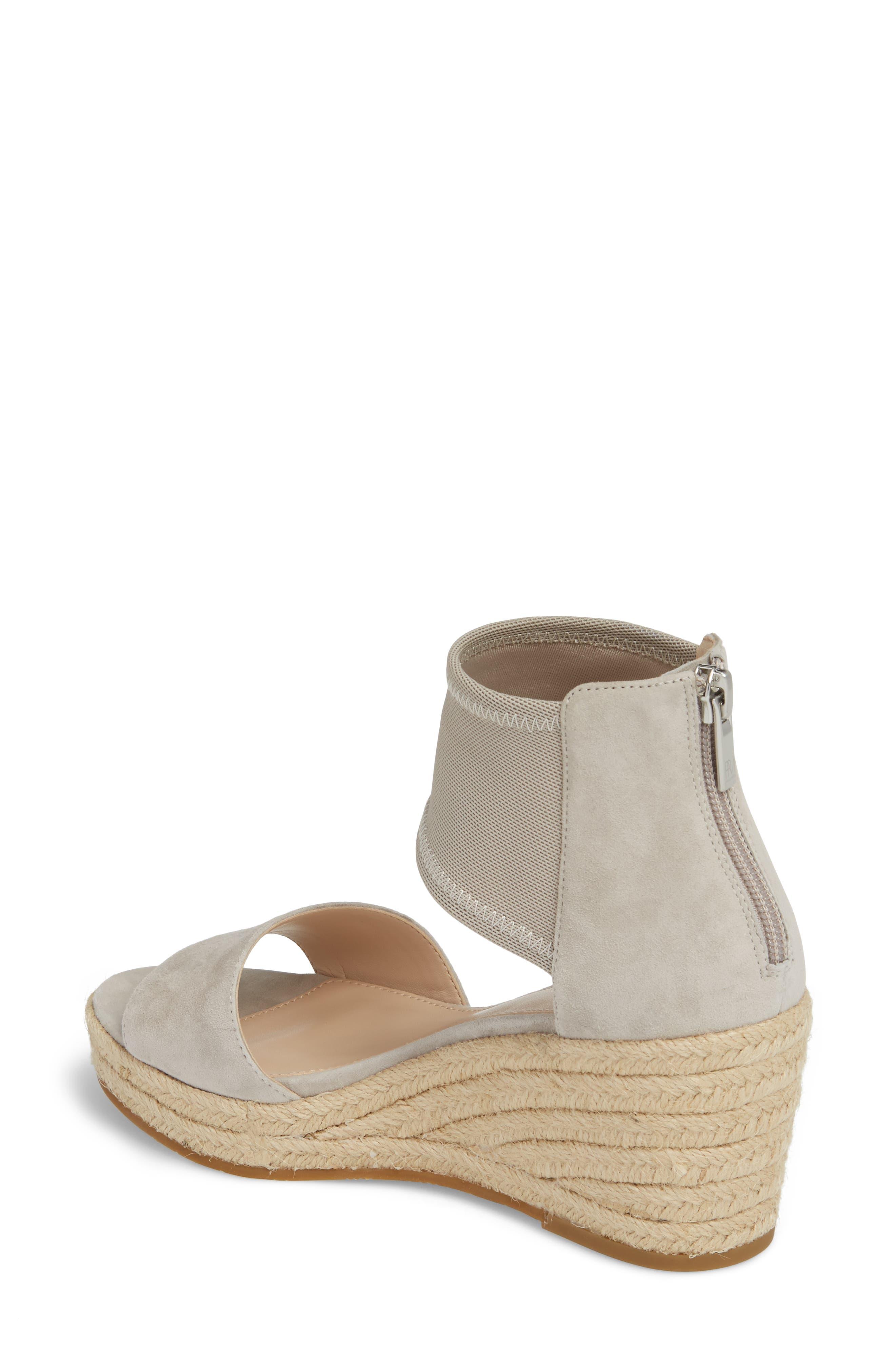 Kona Platform Wedge Sandal,                             Alternate thumbnail 2, color,                             CLOUD SUEDE