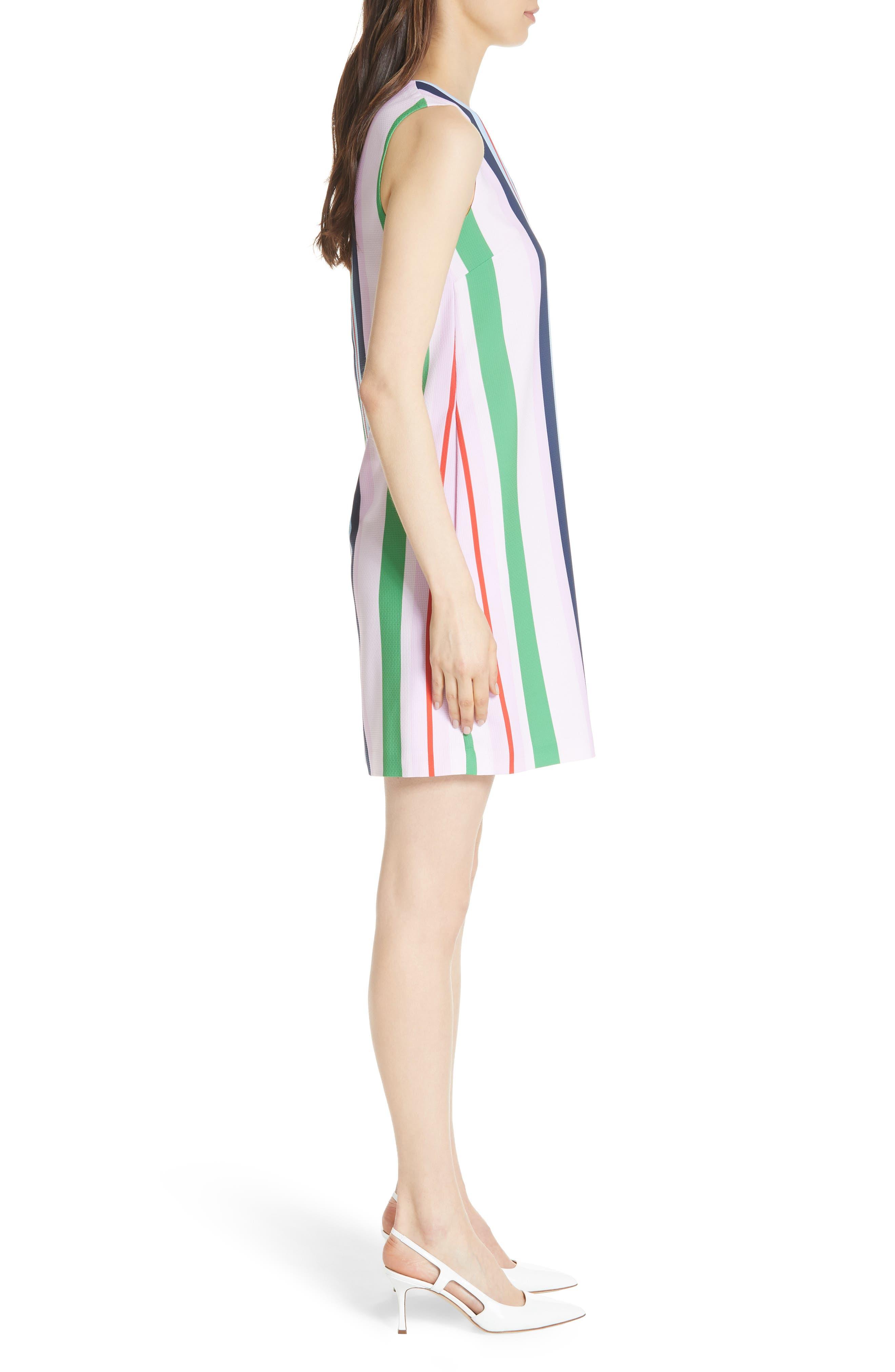 Stripe Shift Dress,                             Alternate thumbnail 3, color,                             680