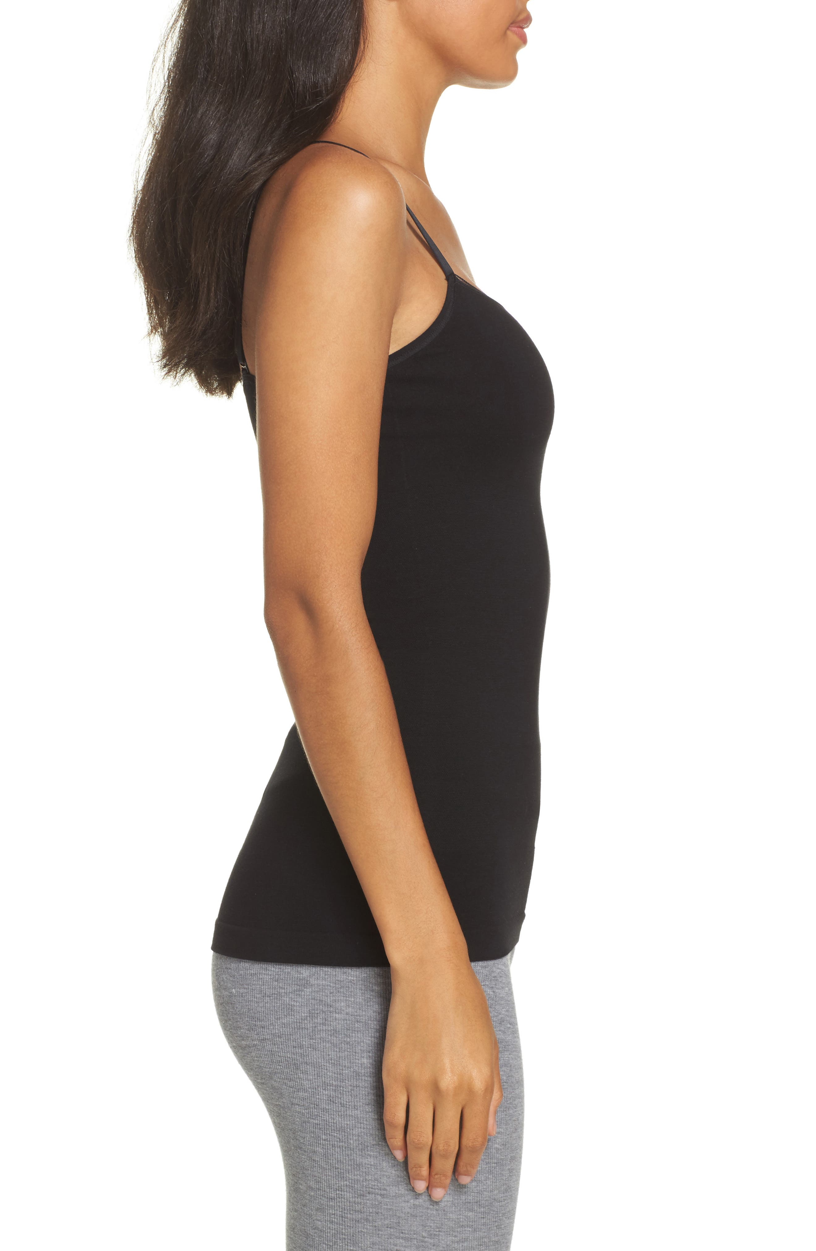 Seamlessly Shaped Convertible Camisole,                             Alternate thumbnail 3, color,                             BLACK