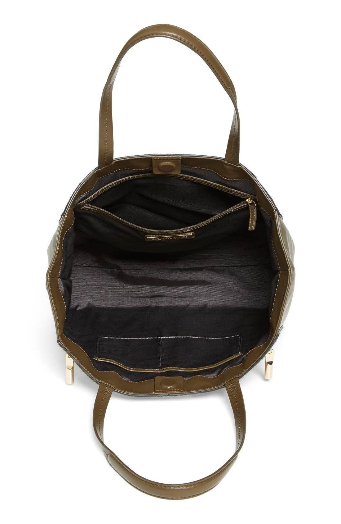 'James' Genuine Calf Hair & Leather Tote,                             Alternate thumbnail 2, color,                             001