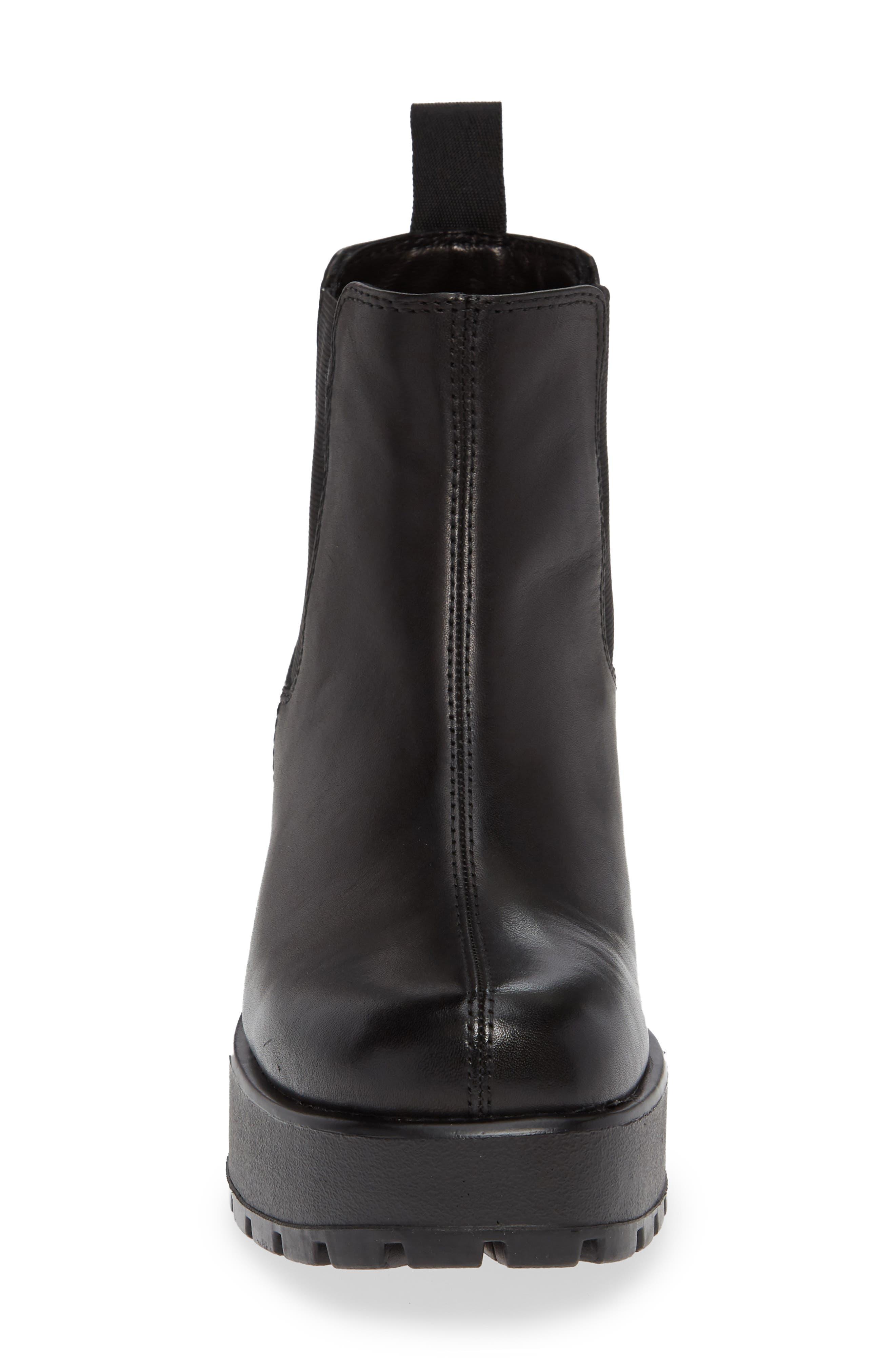 VAGABOND,                             Shoemakers Dioon Platform Chelsea Bootie,                             Alternate thumbnail 4, color,                             BLACK LEATHER