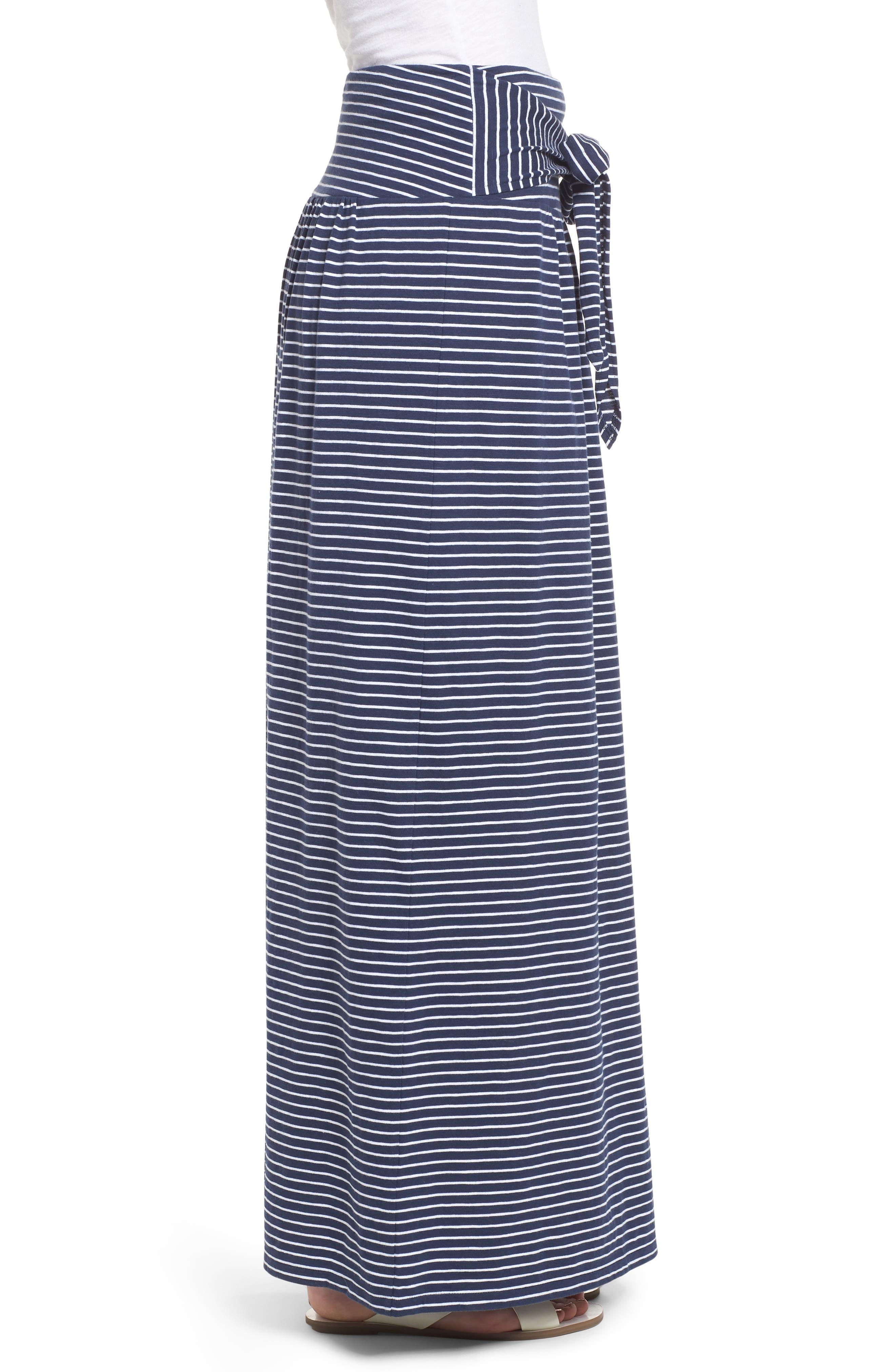 Tie Front Cotton Maxi Skirt,                             Alternate thumbnail 13, color,