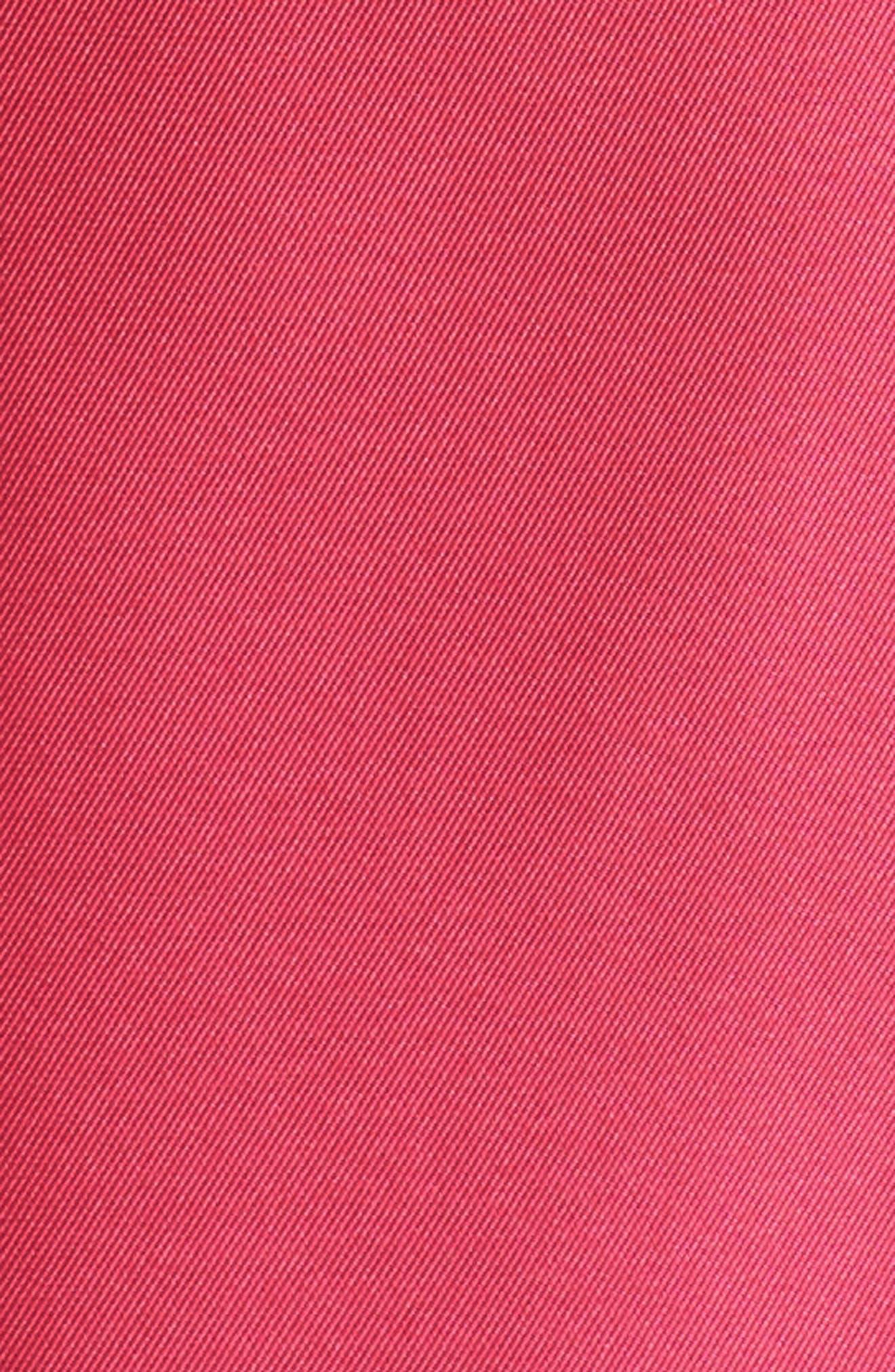 Strapless Mikado Gown,                             Alternate thumbnail 6, color,                             GERANIUM