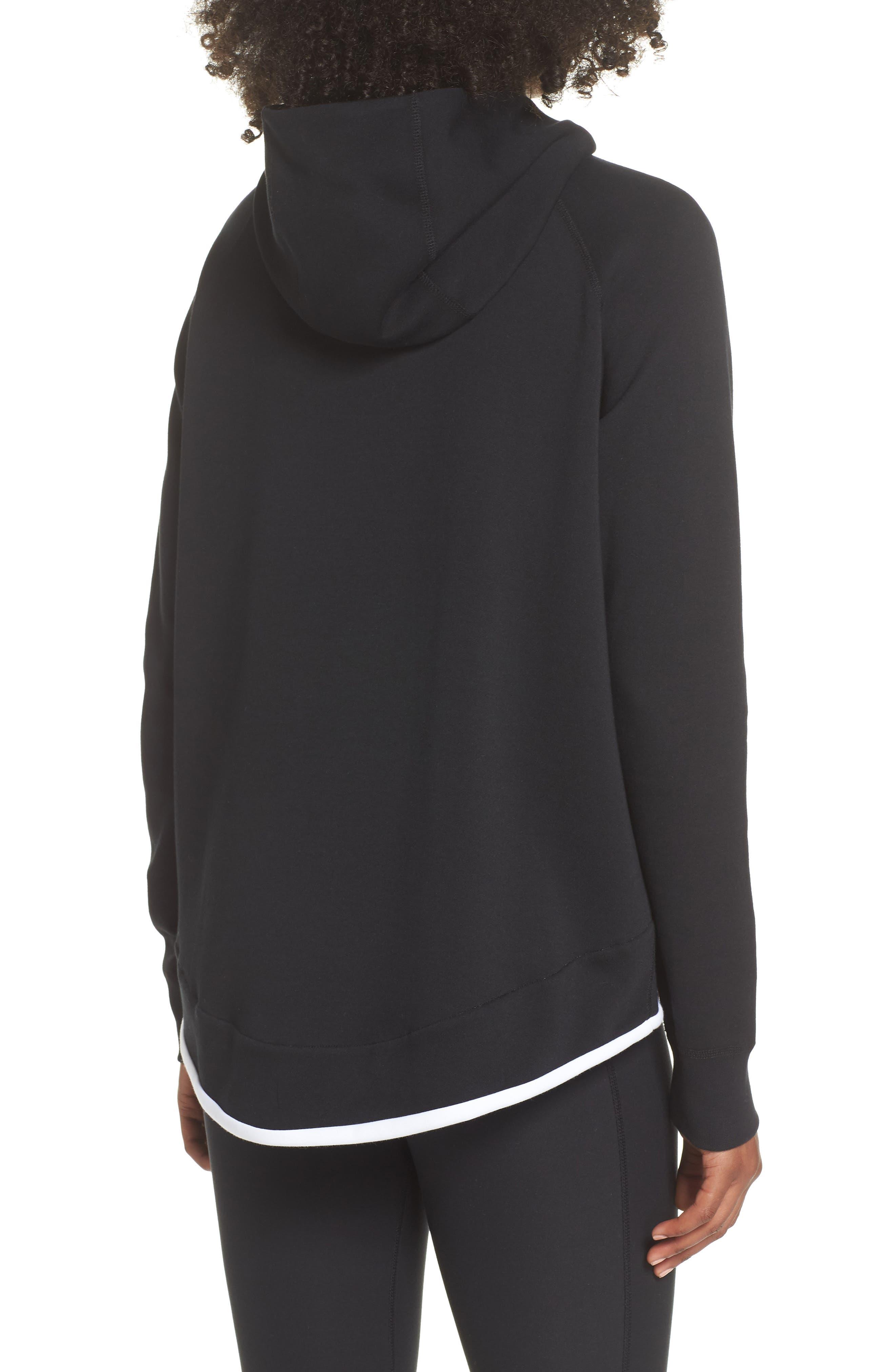 Sportswear Tech Fleece Cape Jacket,                             Alternate thumbnail 2, color,                             BLACK/ WHITE