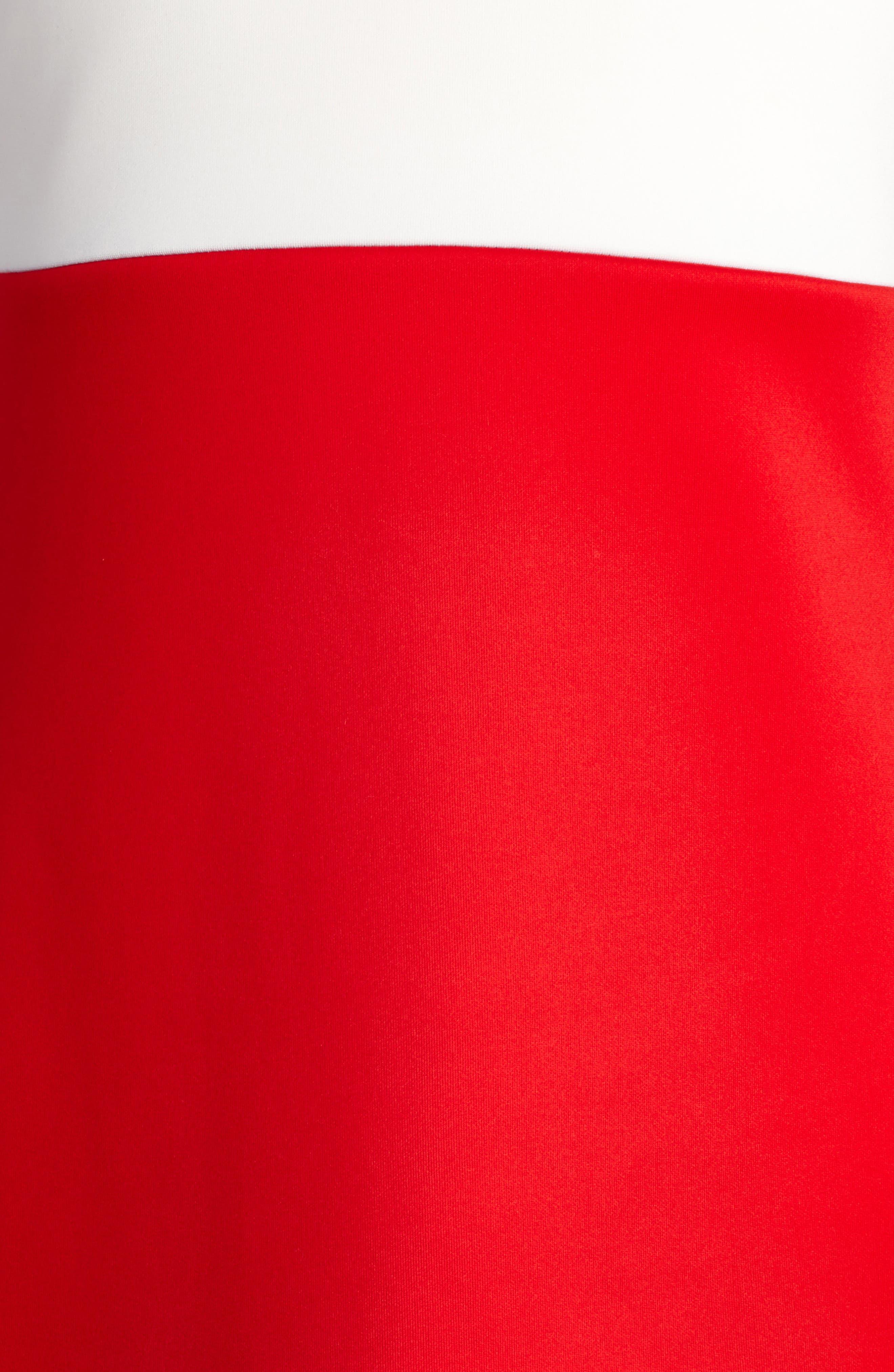 Mock Neck Dress,                             Alternate thumbnail 3, color,