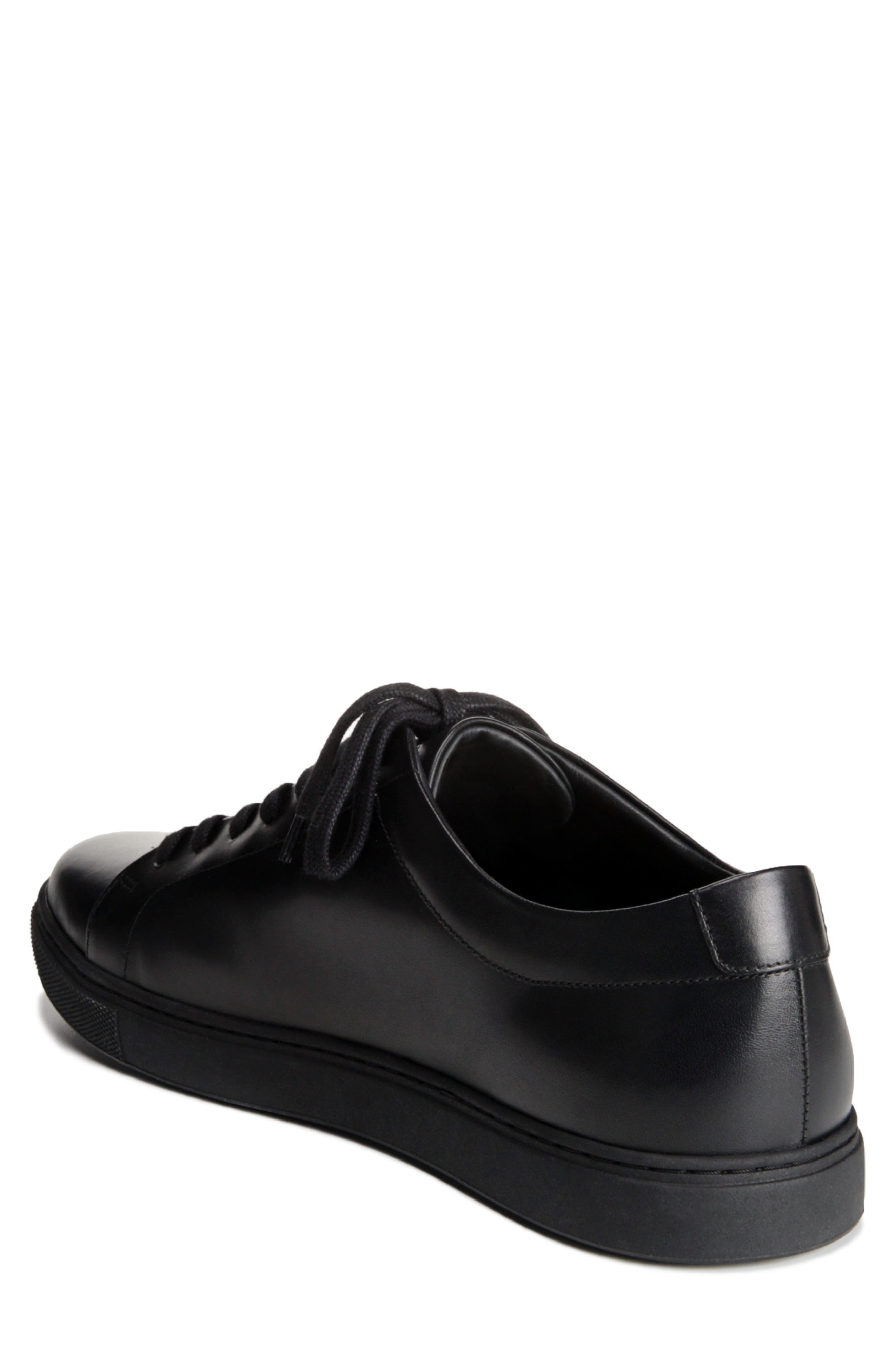 Canal Court Sneaker,                             Alternate thumbnail 2, color,                             BLACK LEATHER