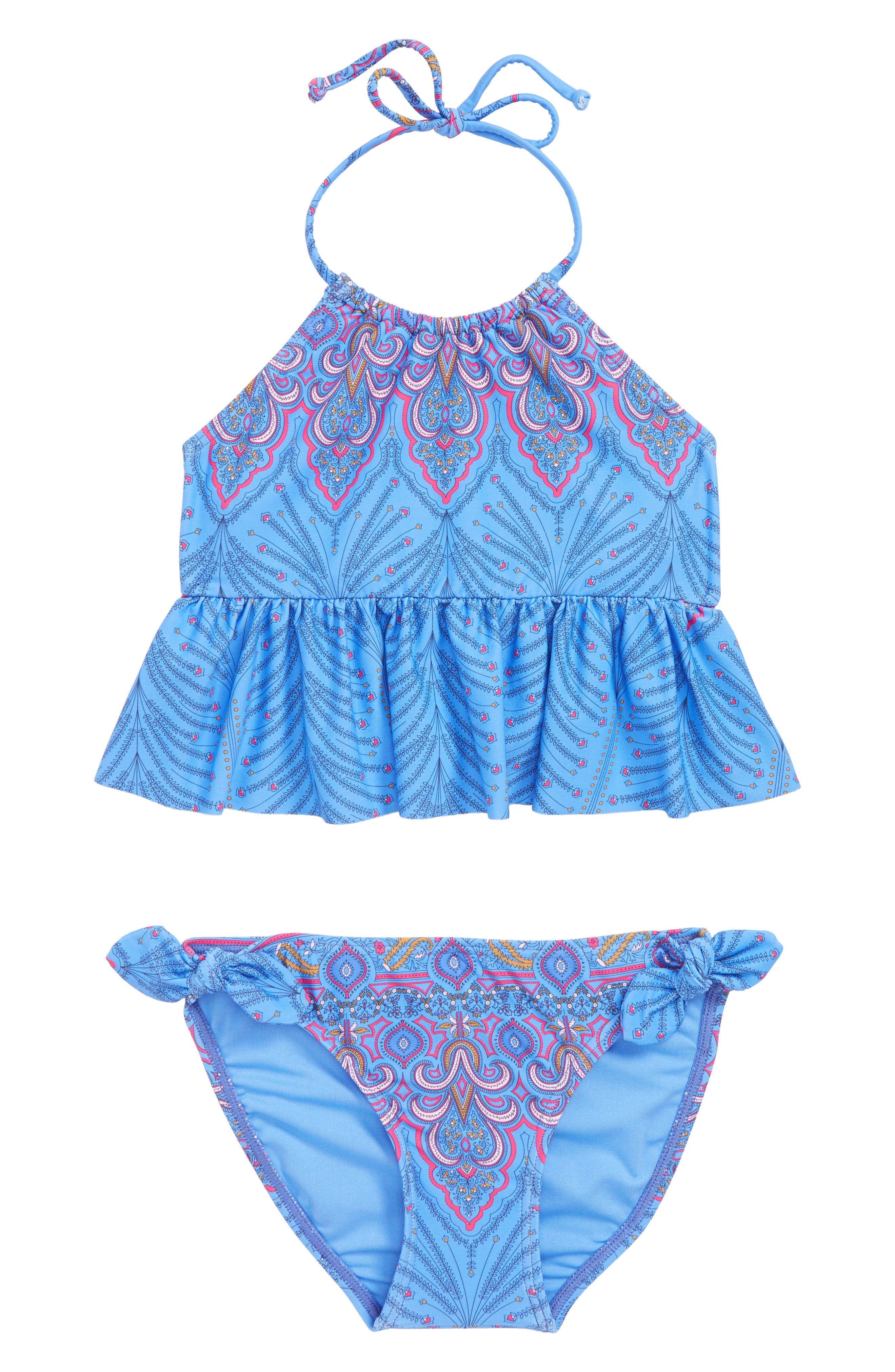 Evie Tankini Two-Piece Swimsuit,                             Main thumbnail 1, color,                             435