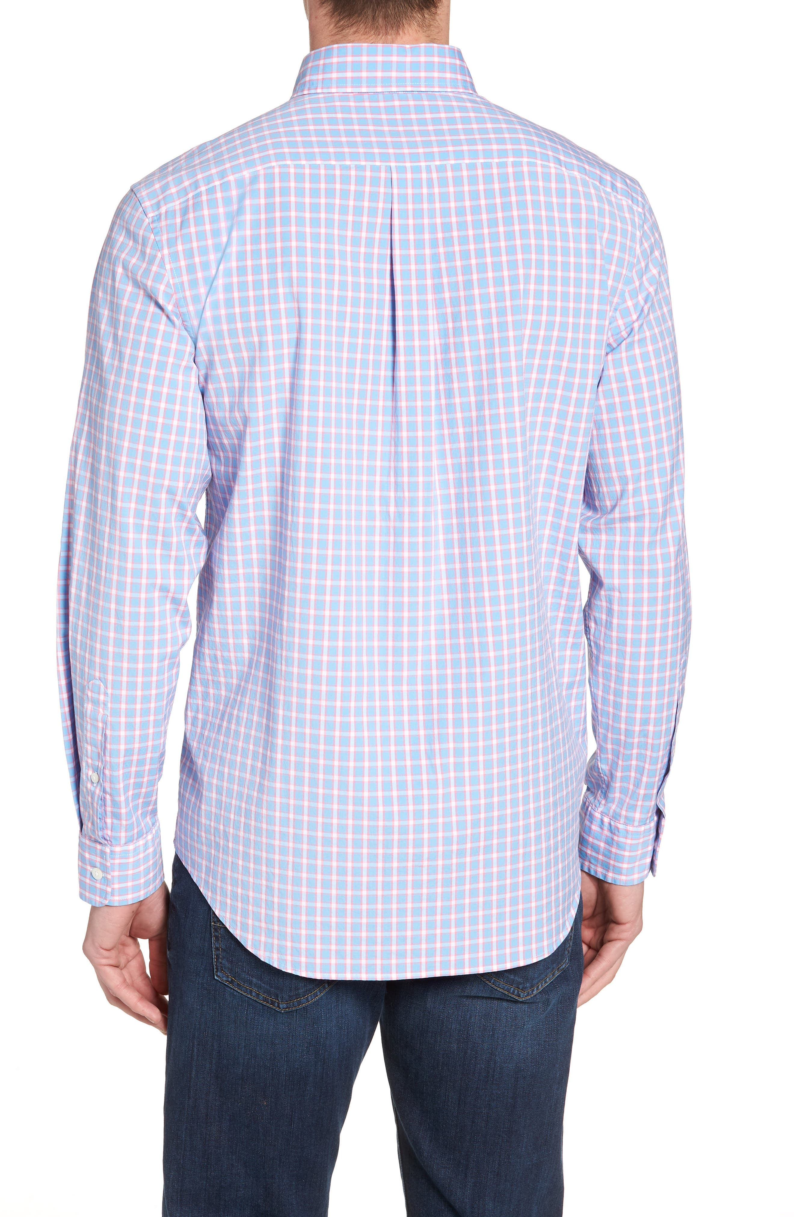 Harlock Pond Plaid Classic Fit Sport Shirt,                             Alternate thumbnail 2, color,                             OCEAN BREEZE