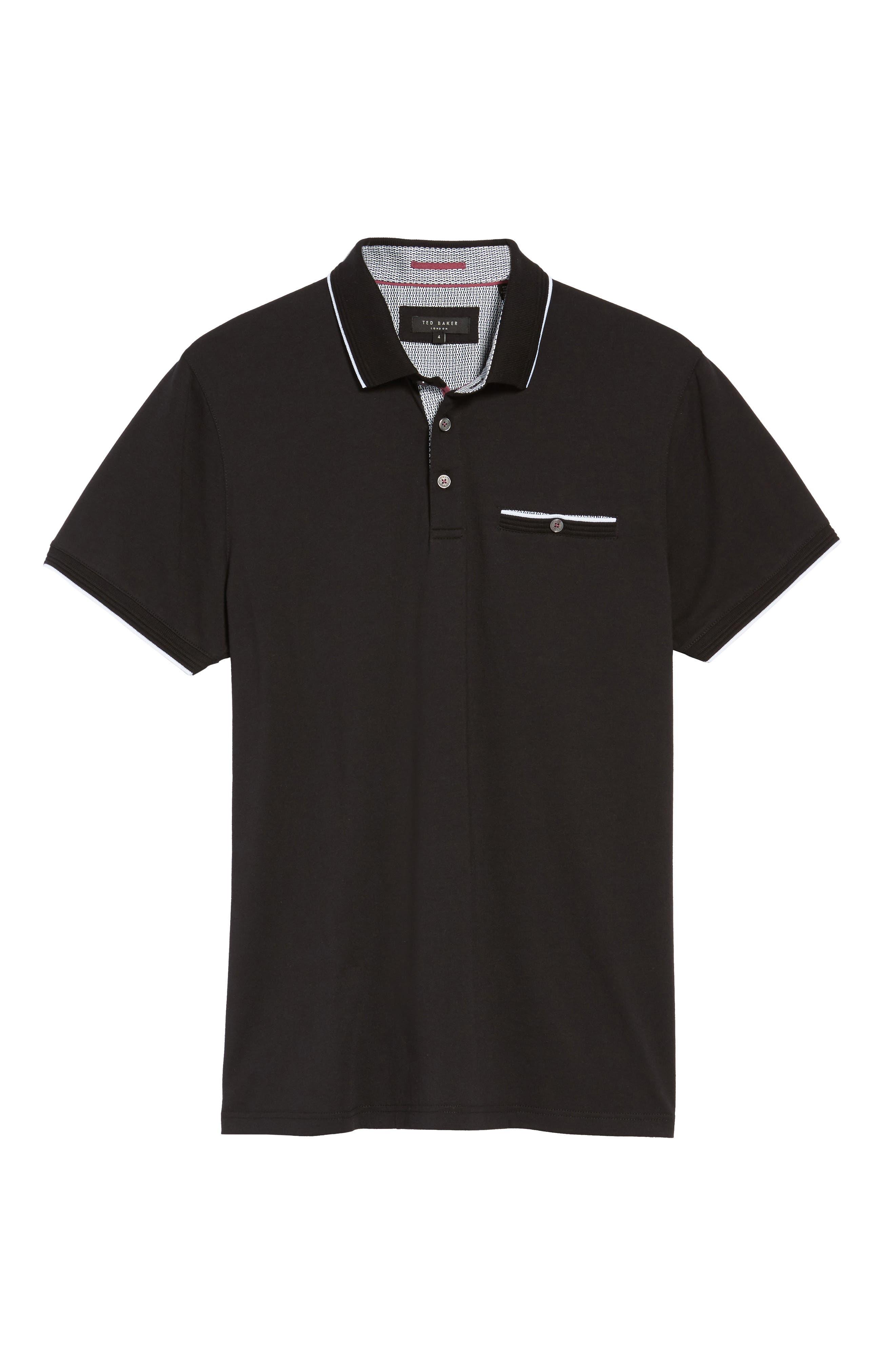 Derrytt Jersey Polo,                             Alternate thumbnail 6, color,                             001