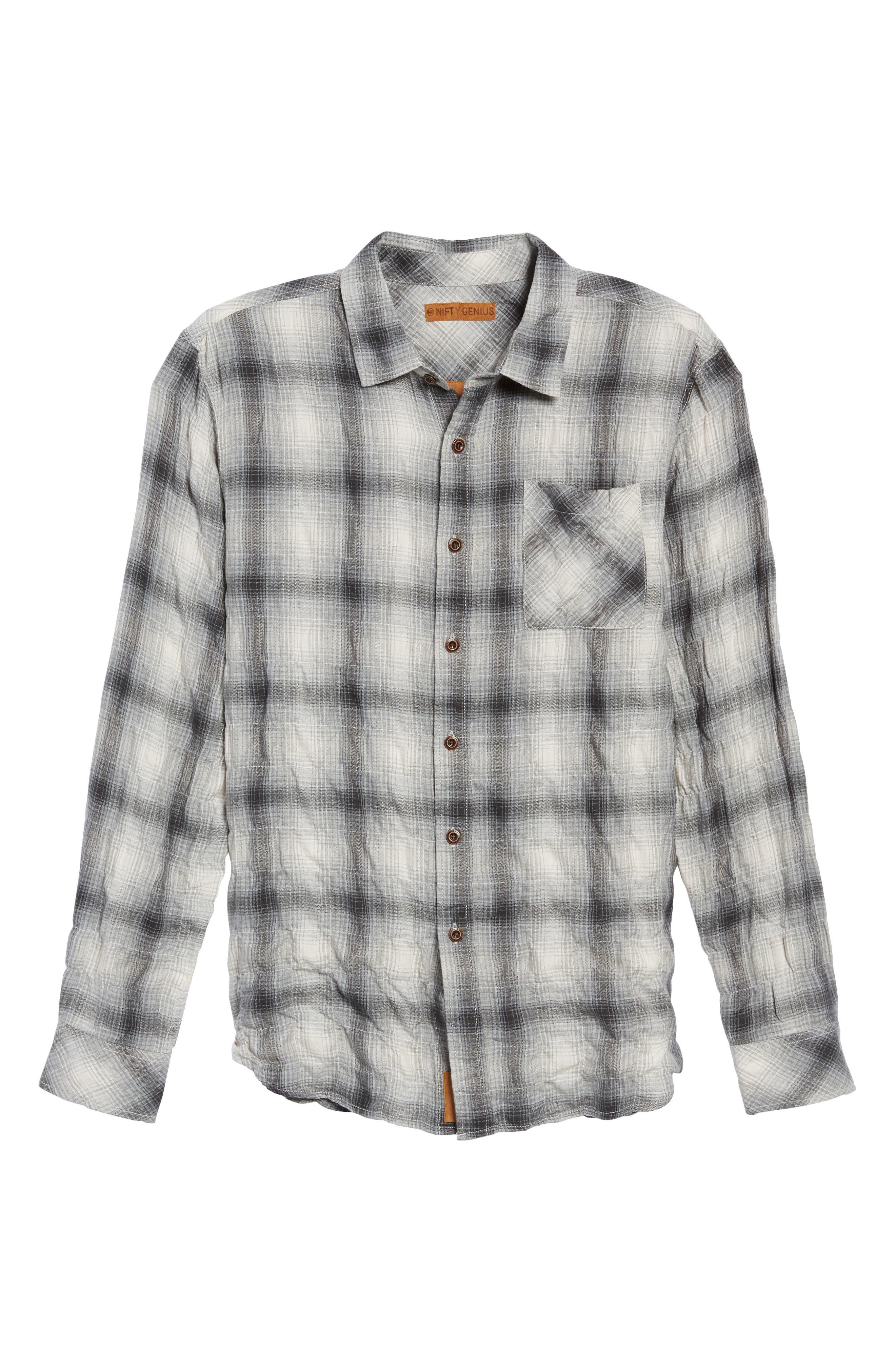 Truman Plaid Sport Shirt,                             Alternate thumbnail 6, color,                             020