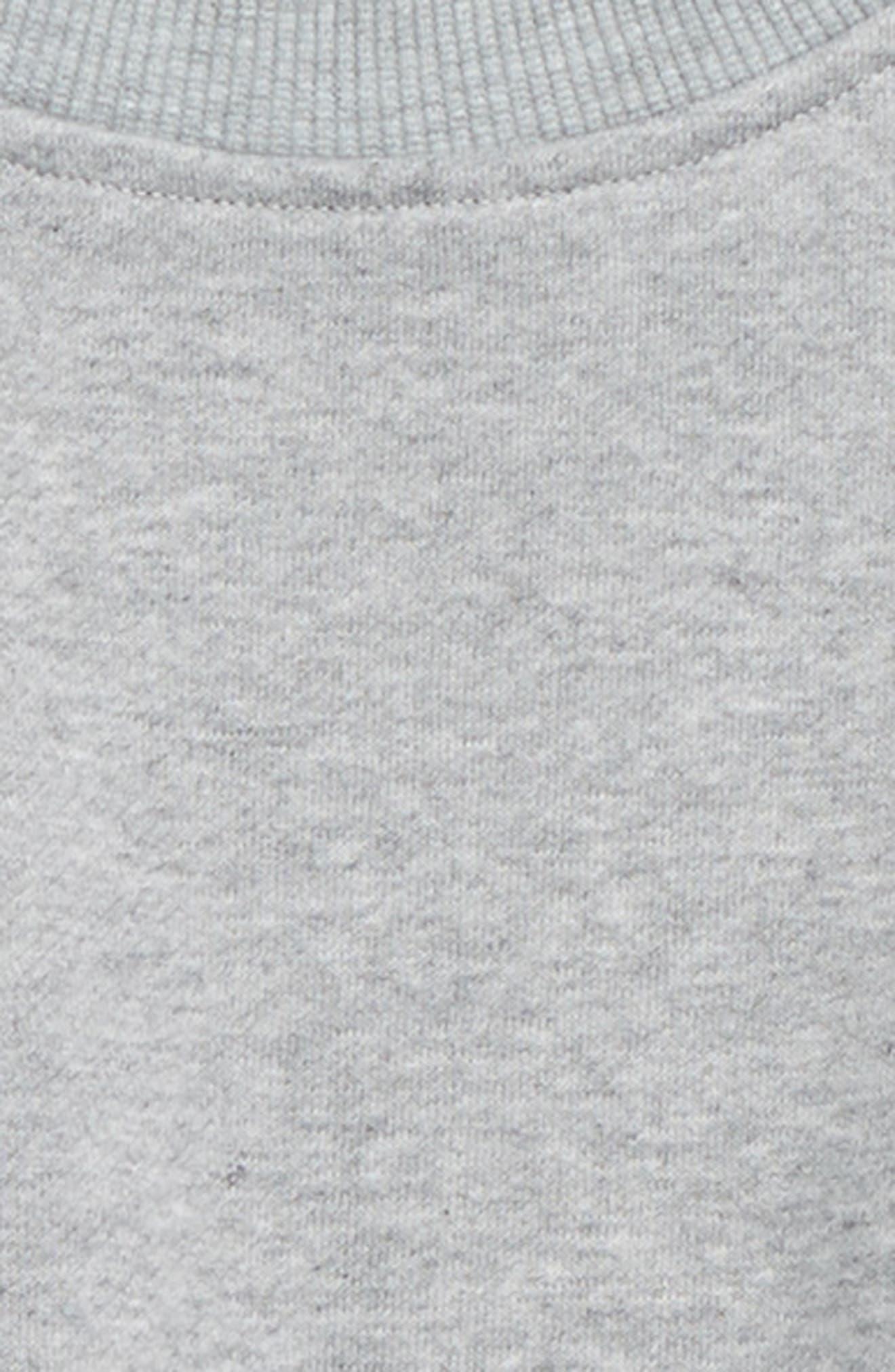 Denim Sleeve Sweatshirt,                             Alternate thumbnail 2, color,                             SCHOOL WASH
