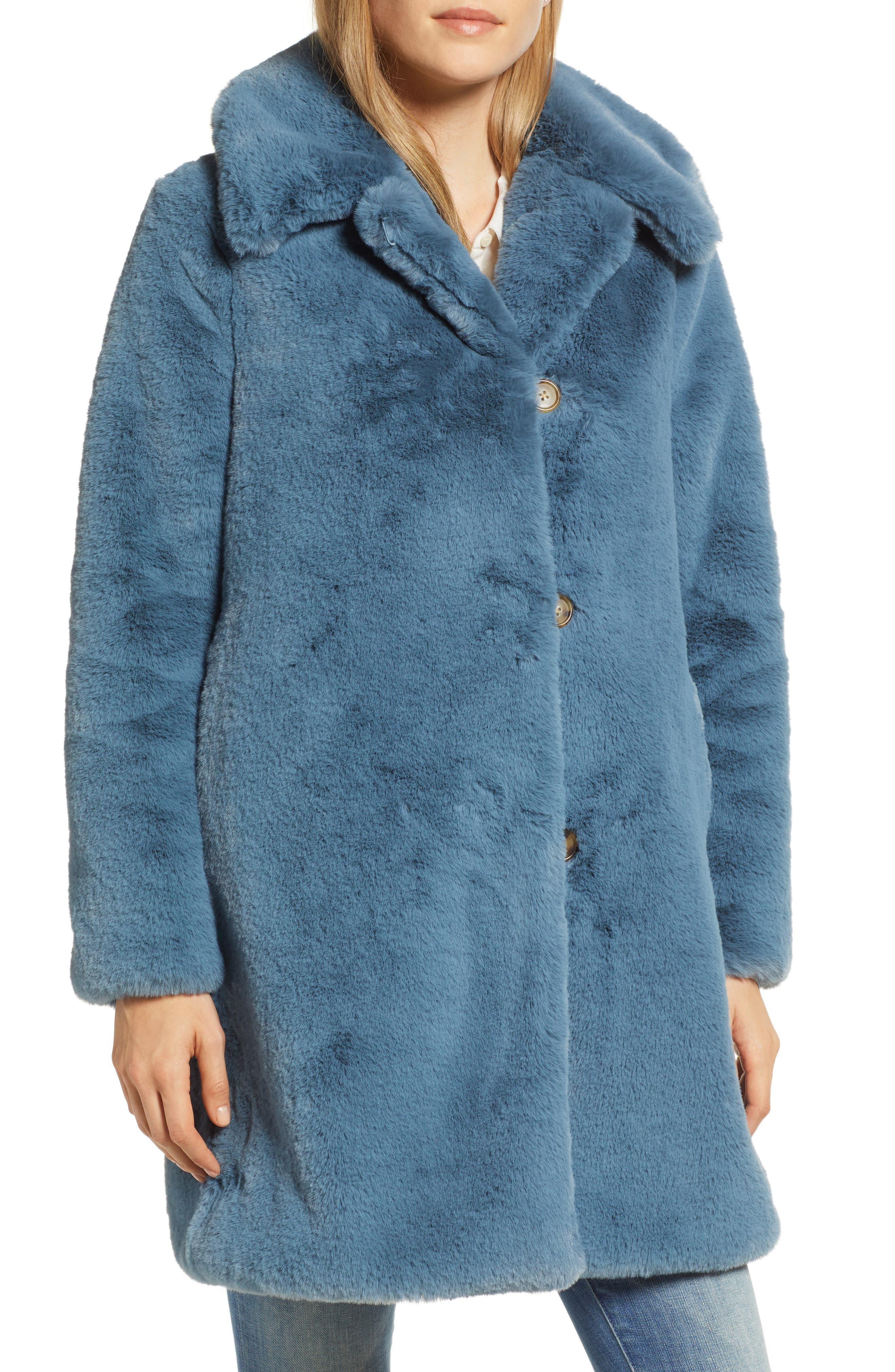 Faux Fur Coat,                             Main thumbnail 1, color,                             250