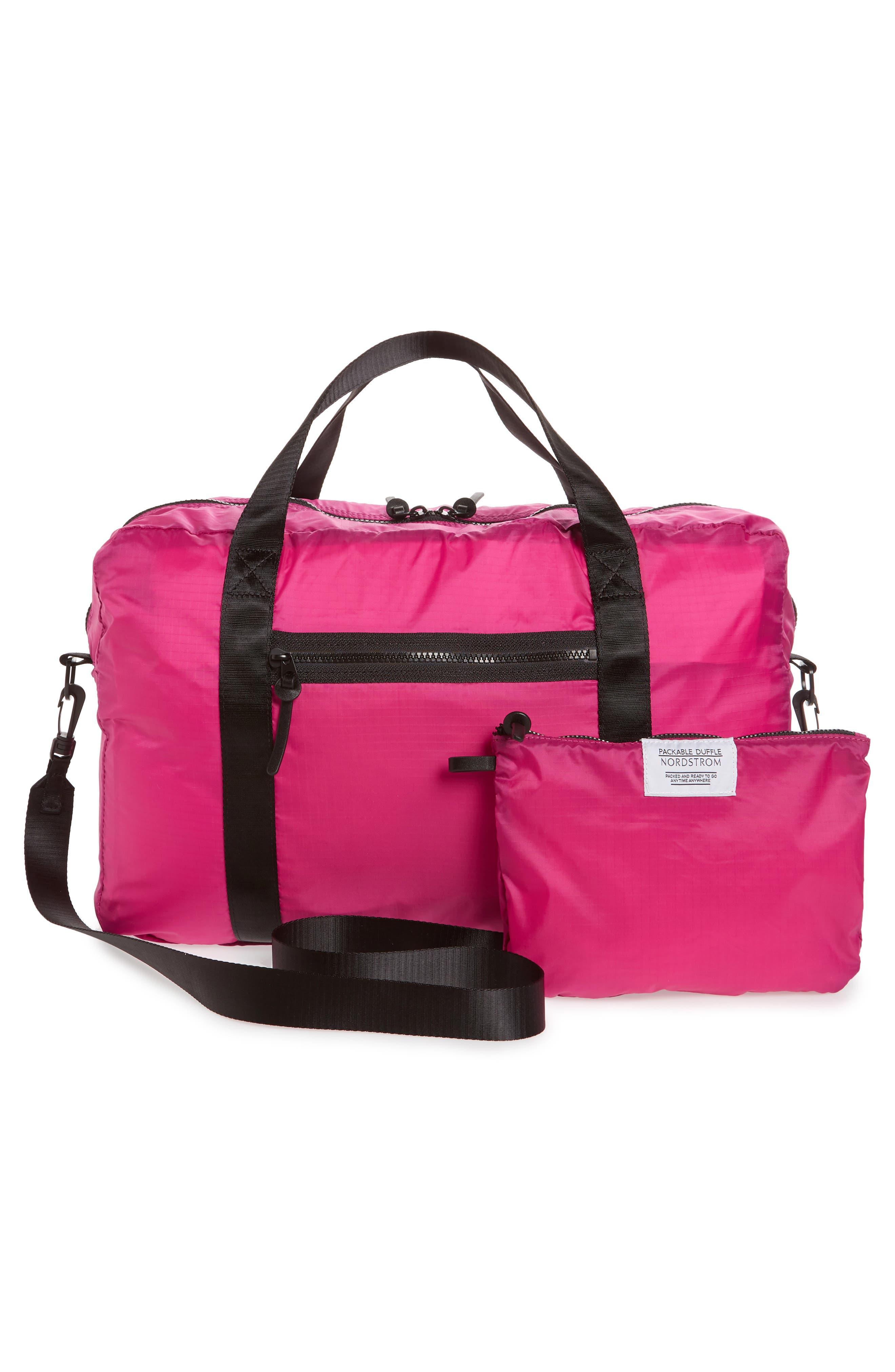 Packable Nylon Duffel Bag,                             Alternate thumbnail 9, color,