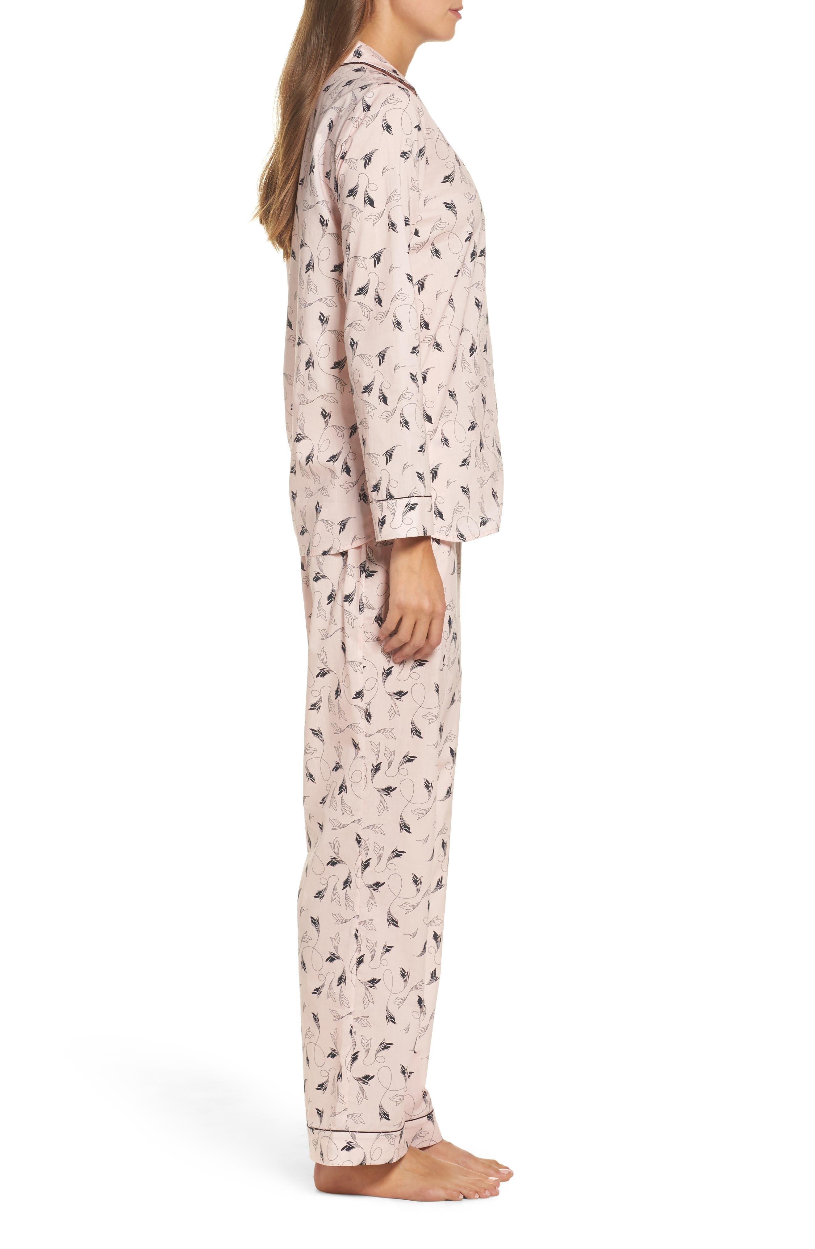 Classic Print Cotton Poplin Pajamas,                             Alternate thumbnail 3, color,