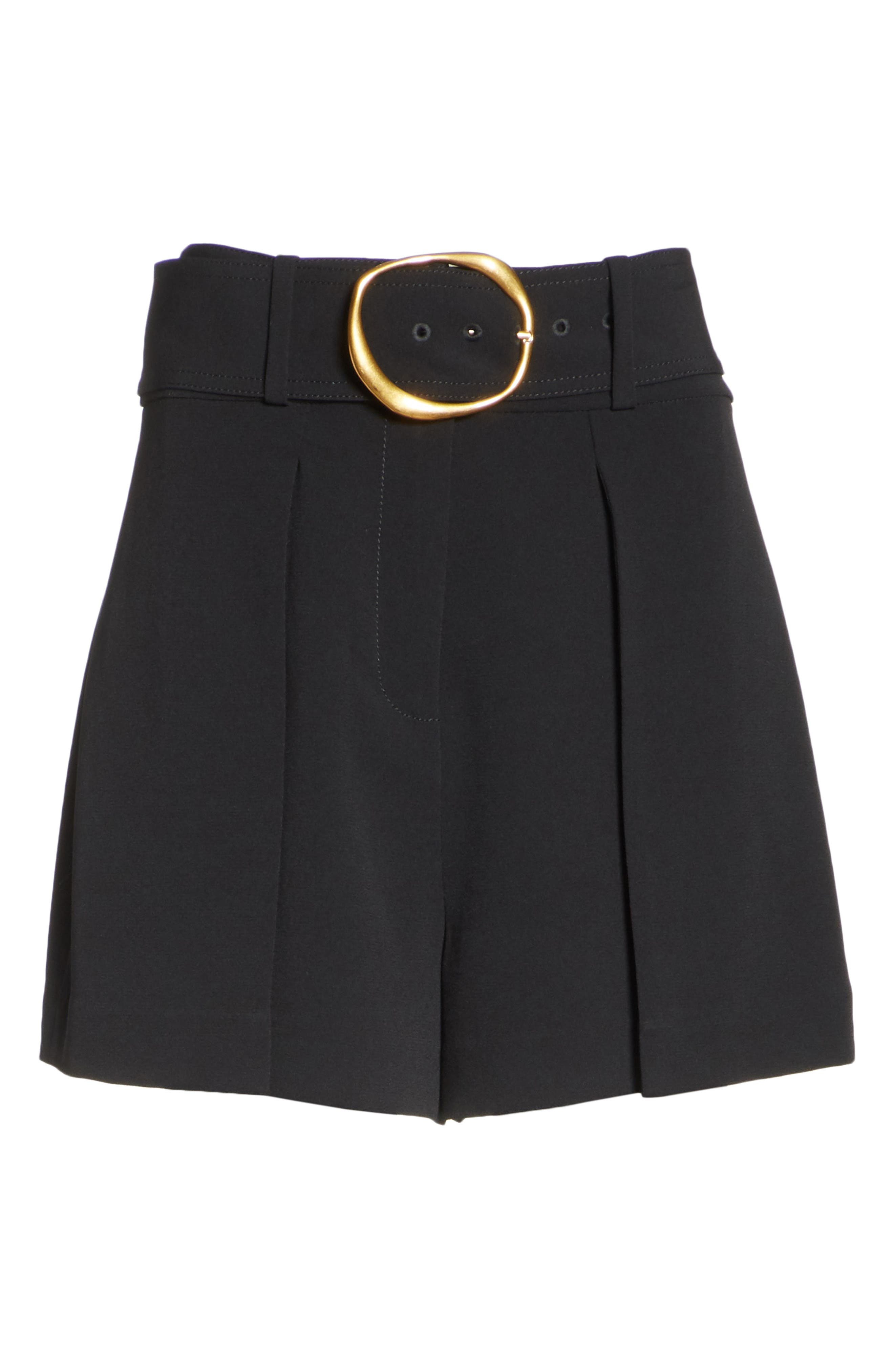 Belted Shorts,                             Alternate thumbnail 6, color,                             001