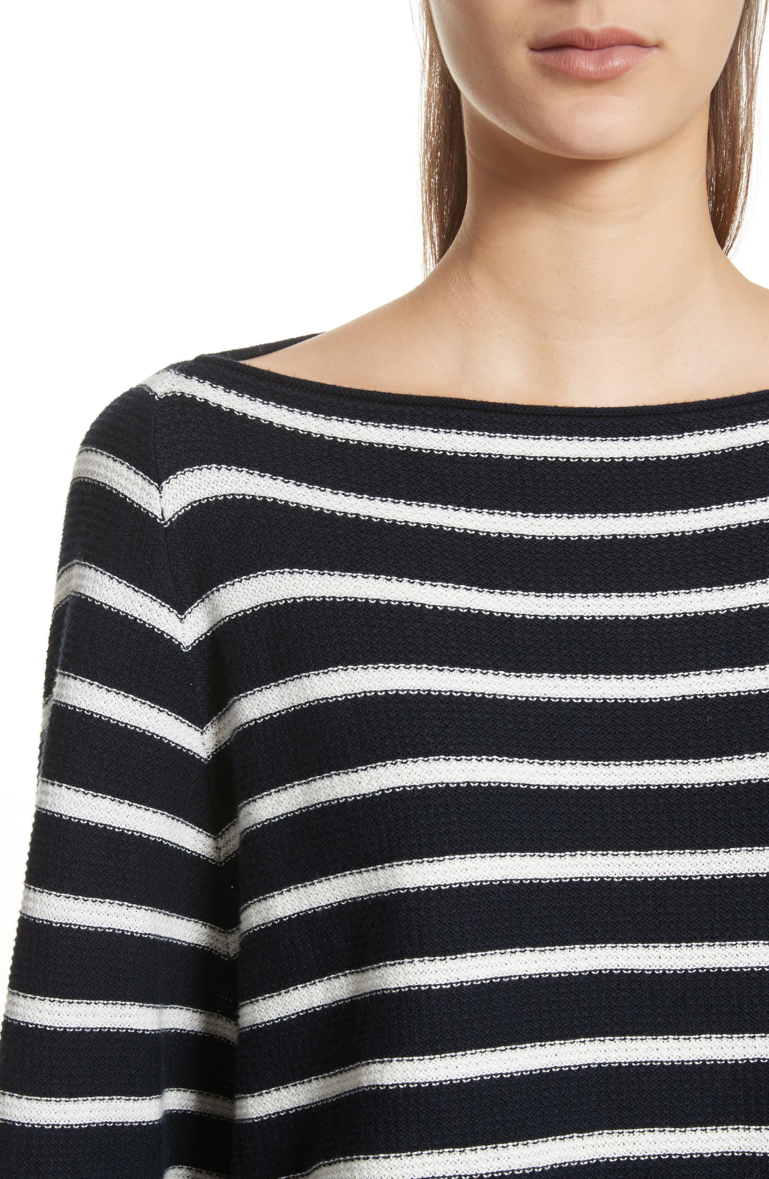Stripe Waffle Knit Top,                             Alternate thumbnail 4, color,                             497