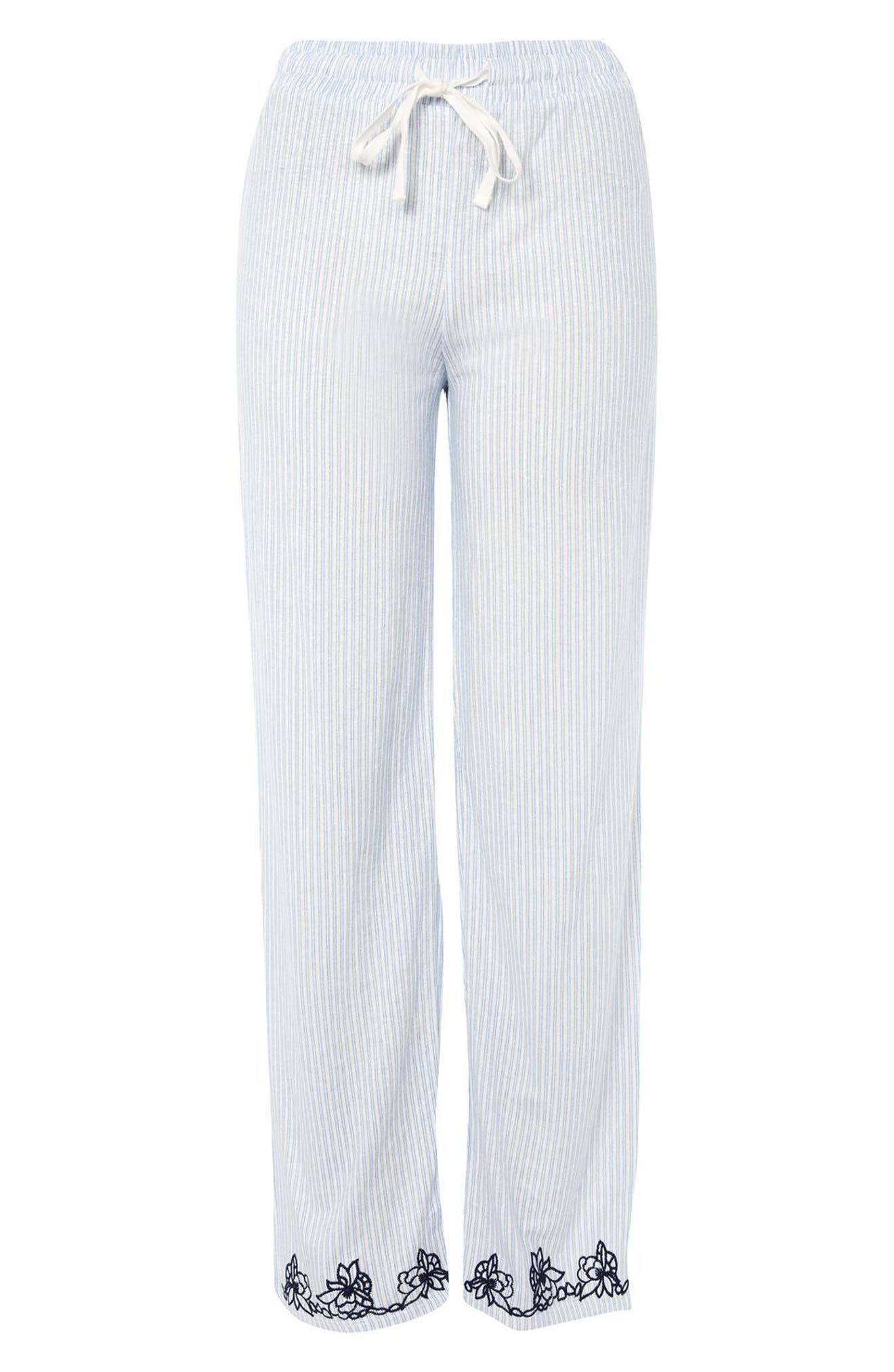 Oxford Stripe Pajama Pants,                             Alternate thumbnail 2, color,                             401