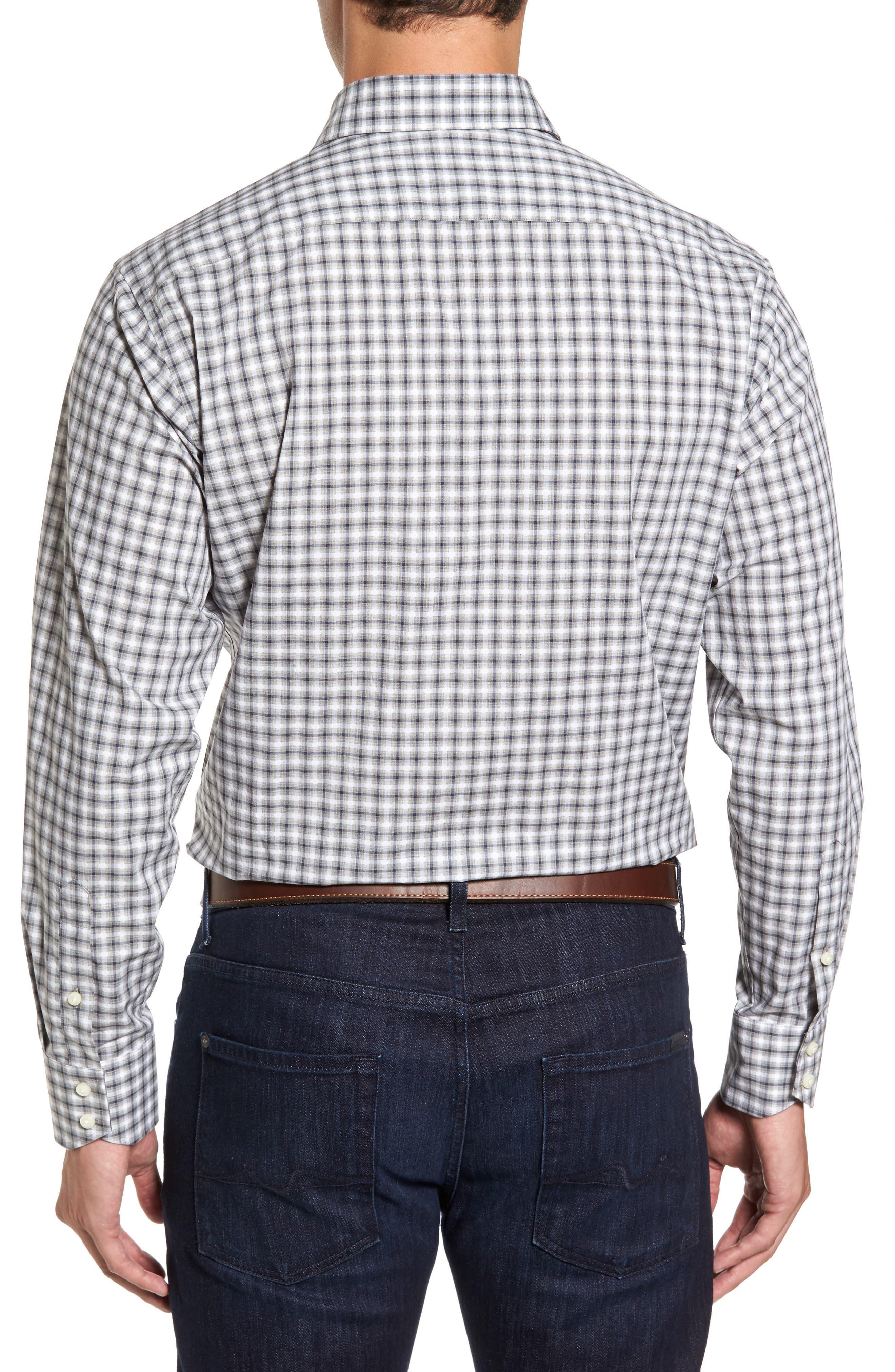 Regular Fit Gradient Check Sport Shirt,                             Alternate thumbnail 2, color,                             020