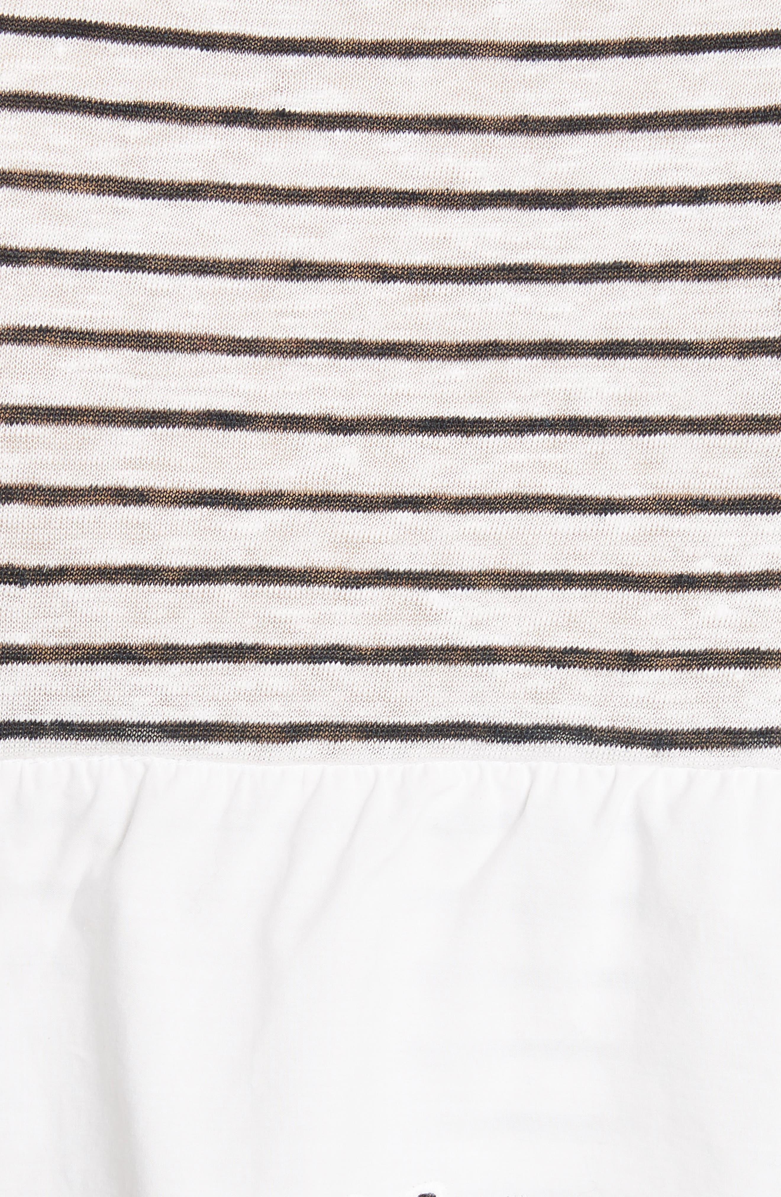 Mikiyo Stripe Linen Tee,                             Alternate thumbnail 5, color,                             131