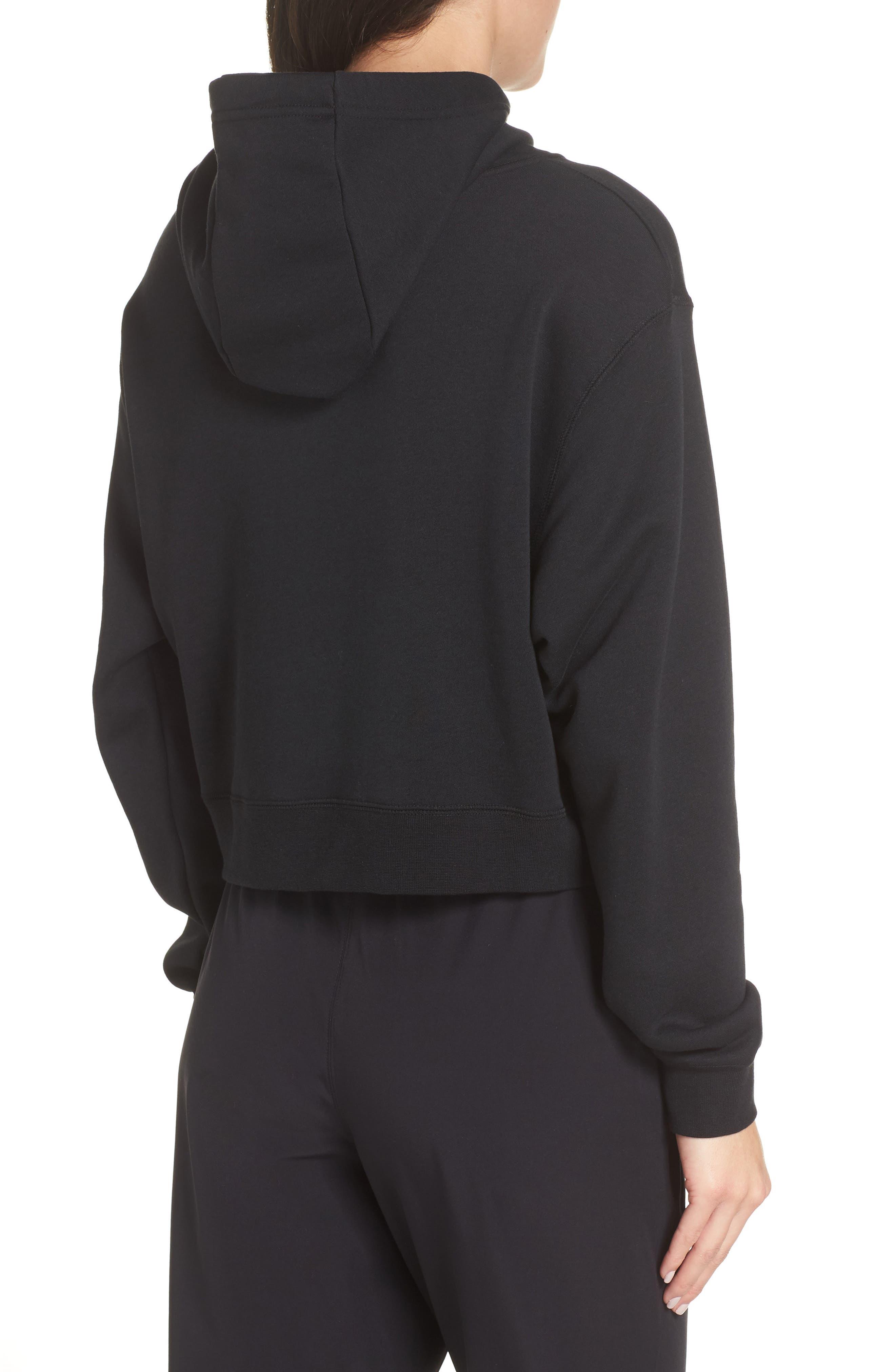 Sportswear Women's Half Zip Fleece Hoodie,                             Alternate thumbnail 2, color,                             BLACK/ BLACK/ ROSE GOLD