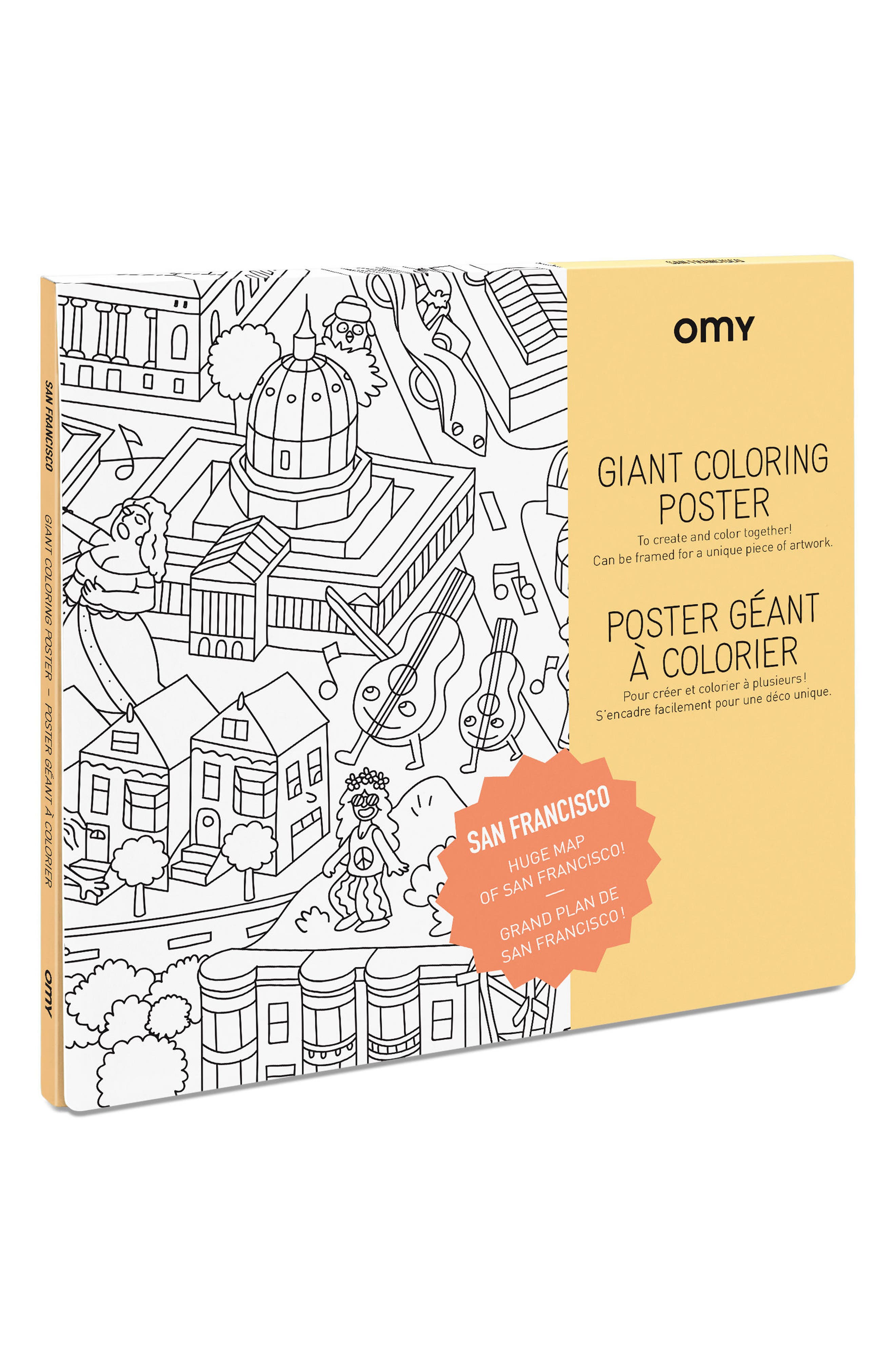 San Francisco Giant Coloring Poster,                         Main,                         color,