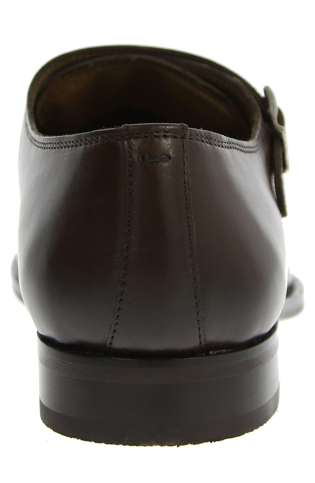 'Sabato' Double Monk Strap Shoe,                             Alternate thumbnail 6, color,                             BROWN