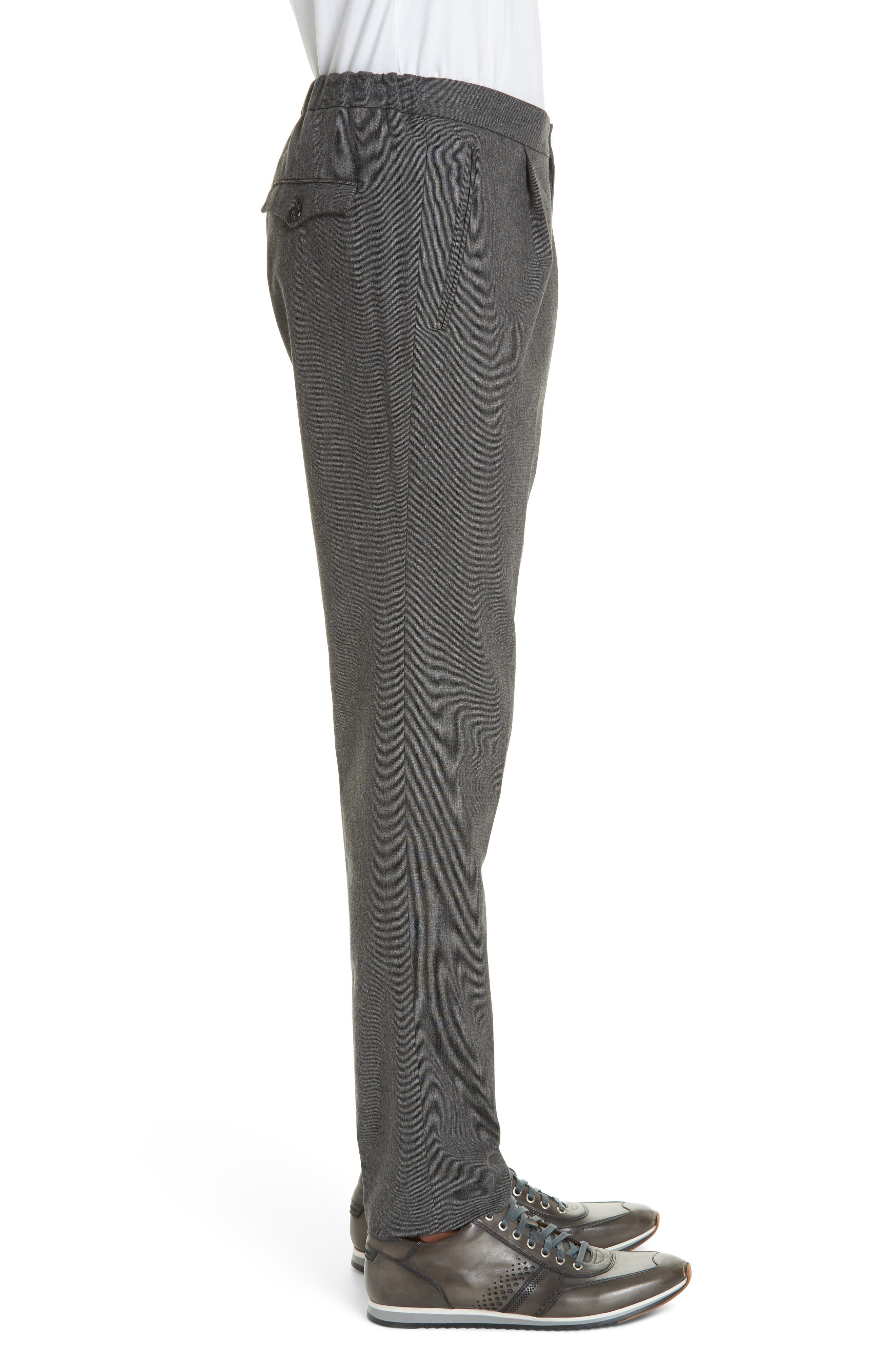 Trim Fit Sport Trousers,                             Alternate thumbnail 3, color,                             CHARCOAL