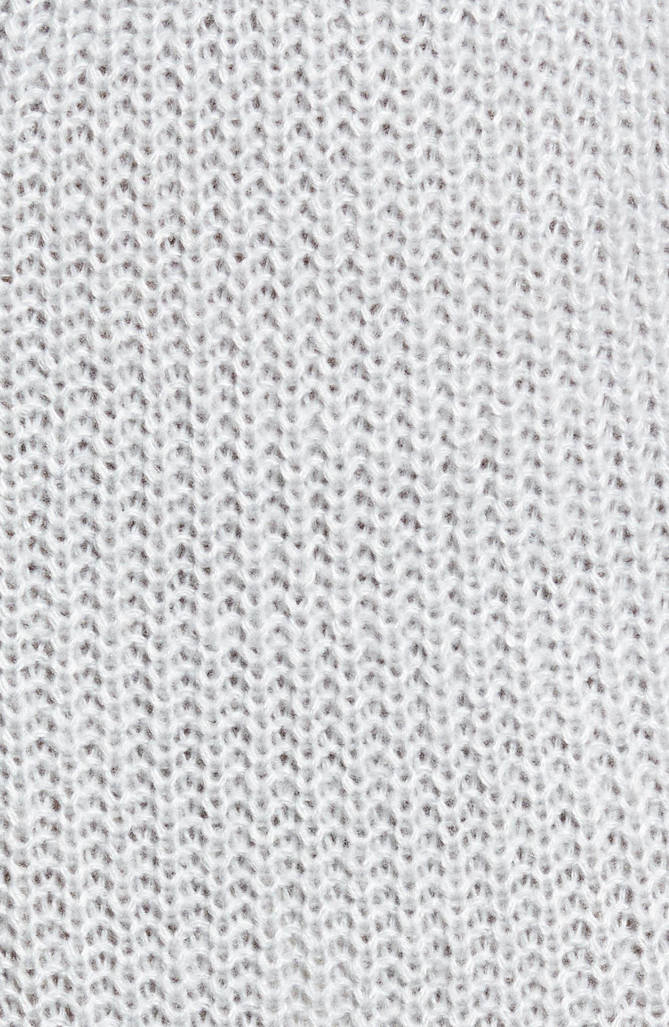 Foldover Off the Shoulder Sweater Dress,                             Alternate thumbnail 18, color,