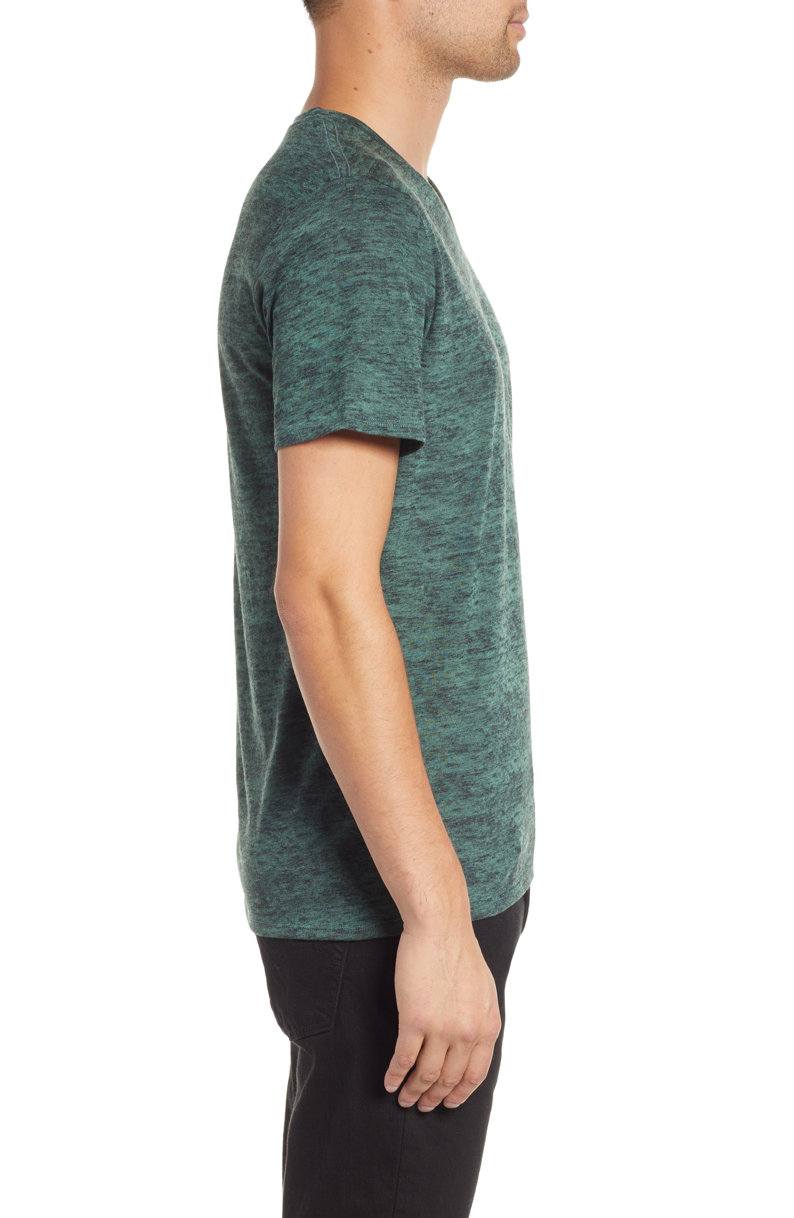 THE RAIL,                             Burnout V-Neck T-Shirt,                             Alternate thumbnail 3, color,                             311