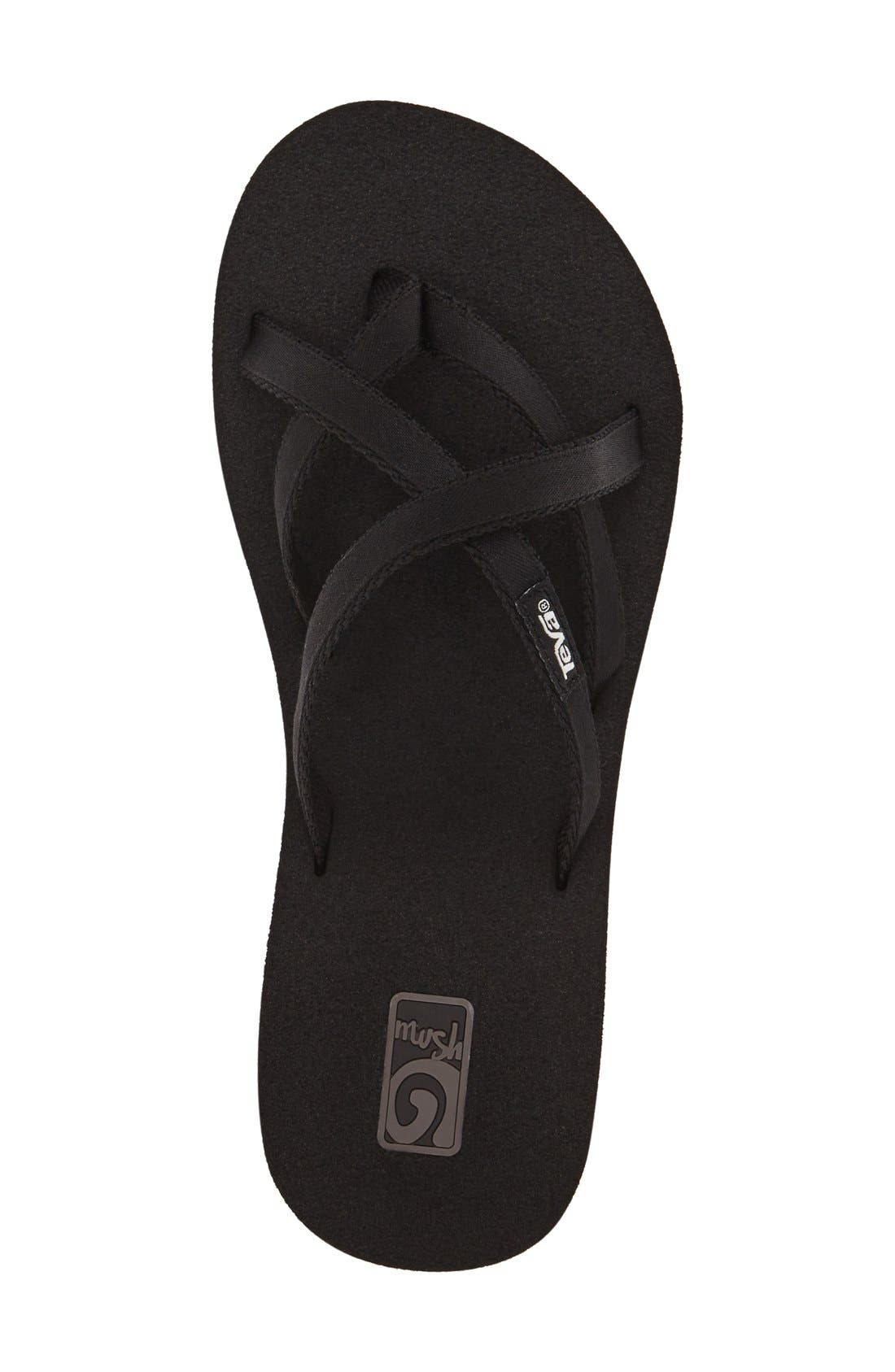 'Mandalyn' Wedge Sandal,                             Alternate thumbnail 3, color,                             BLACK