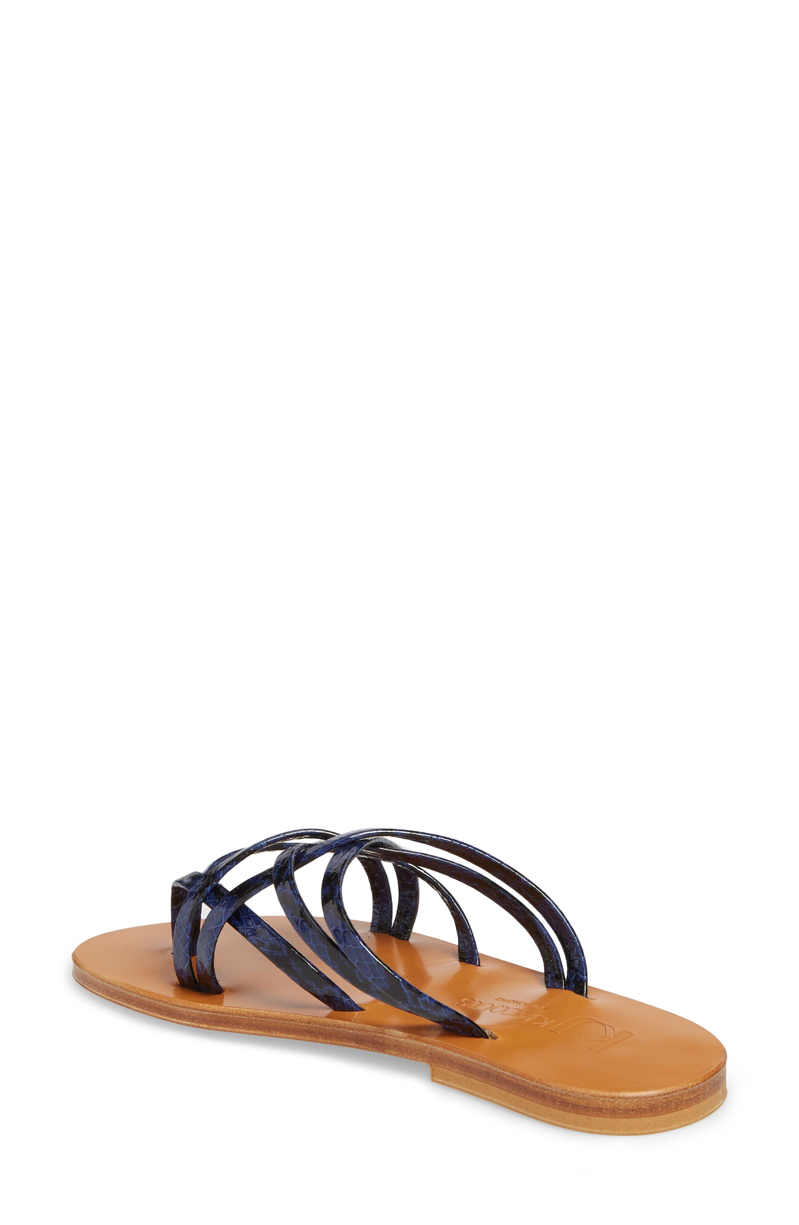 K. Jacques St. Tropez Strappy Thong Sandal,                             Alternate thumbnail 4, color,