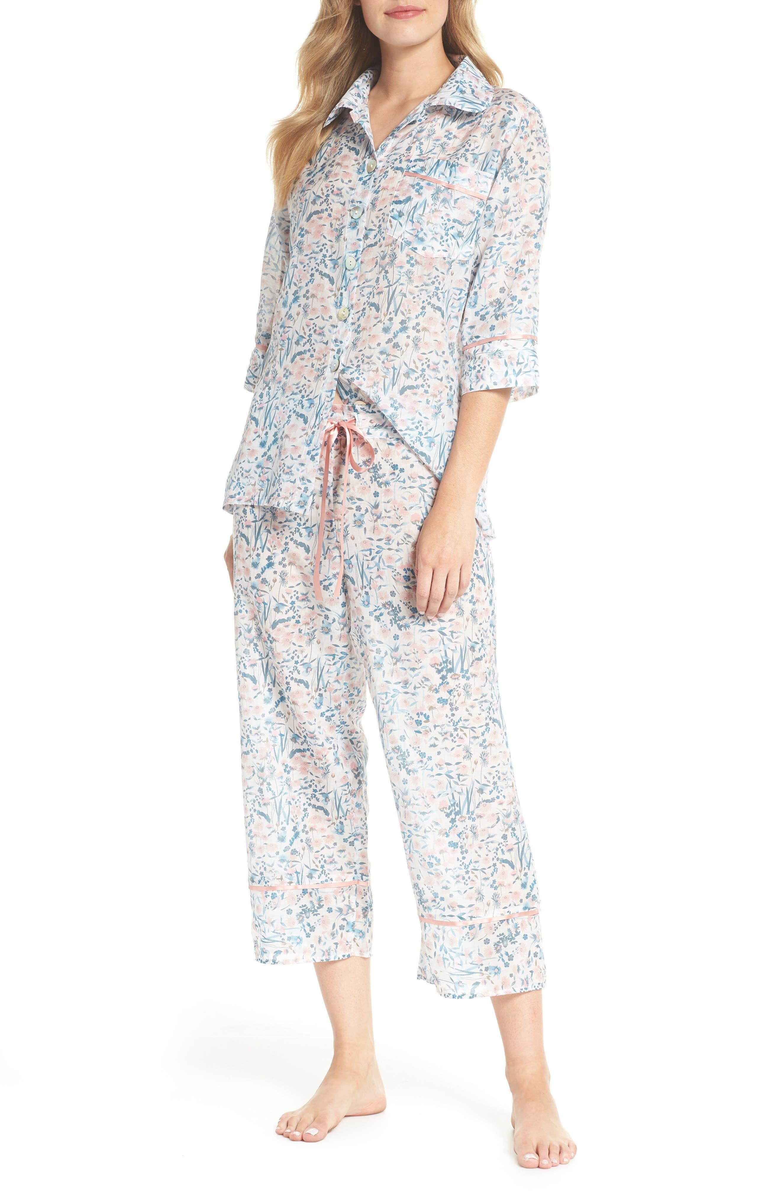 Ellie Crop Pajamas,                             Main thumbnail 1, color,                             400