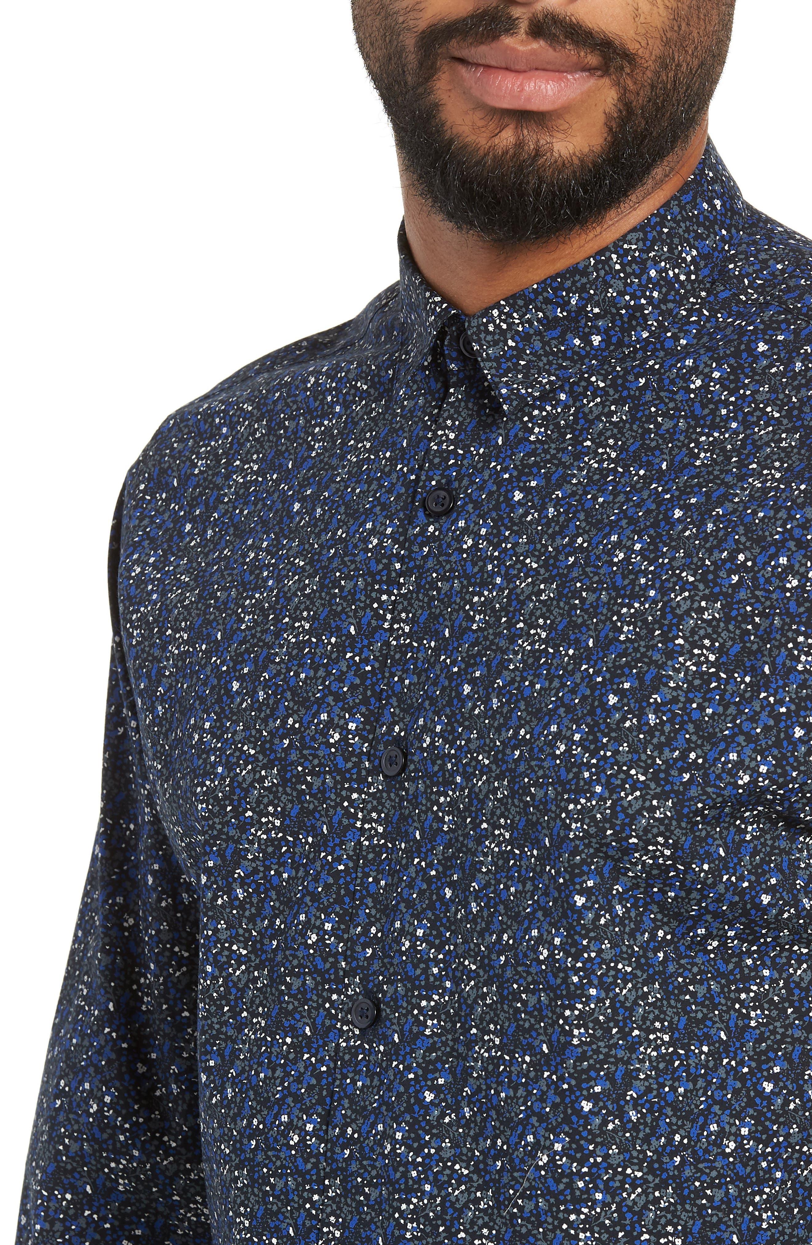 Slim Fit Sport Shirt,                             Alternate thumbnail 2, color,                             ESTATE BLUE
