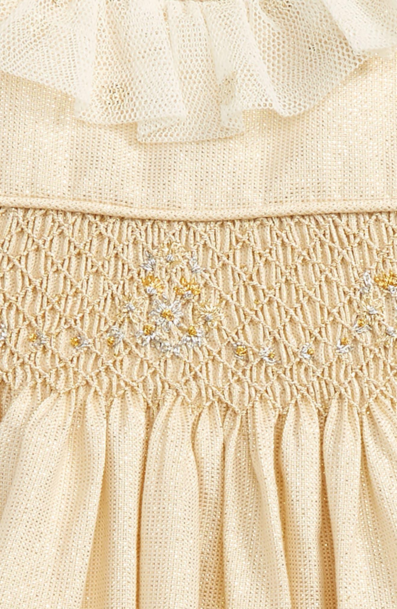 Jacquard Smocked Dress,                             Alternate thumbnail 2, color,                             700