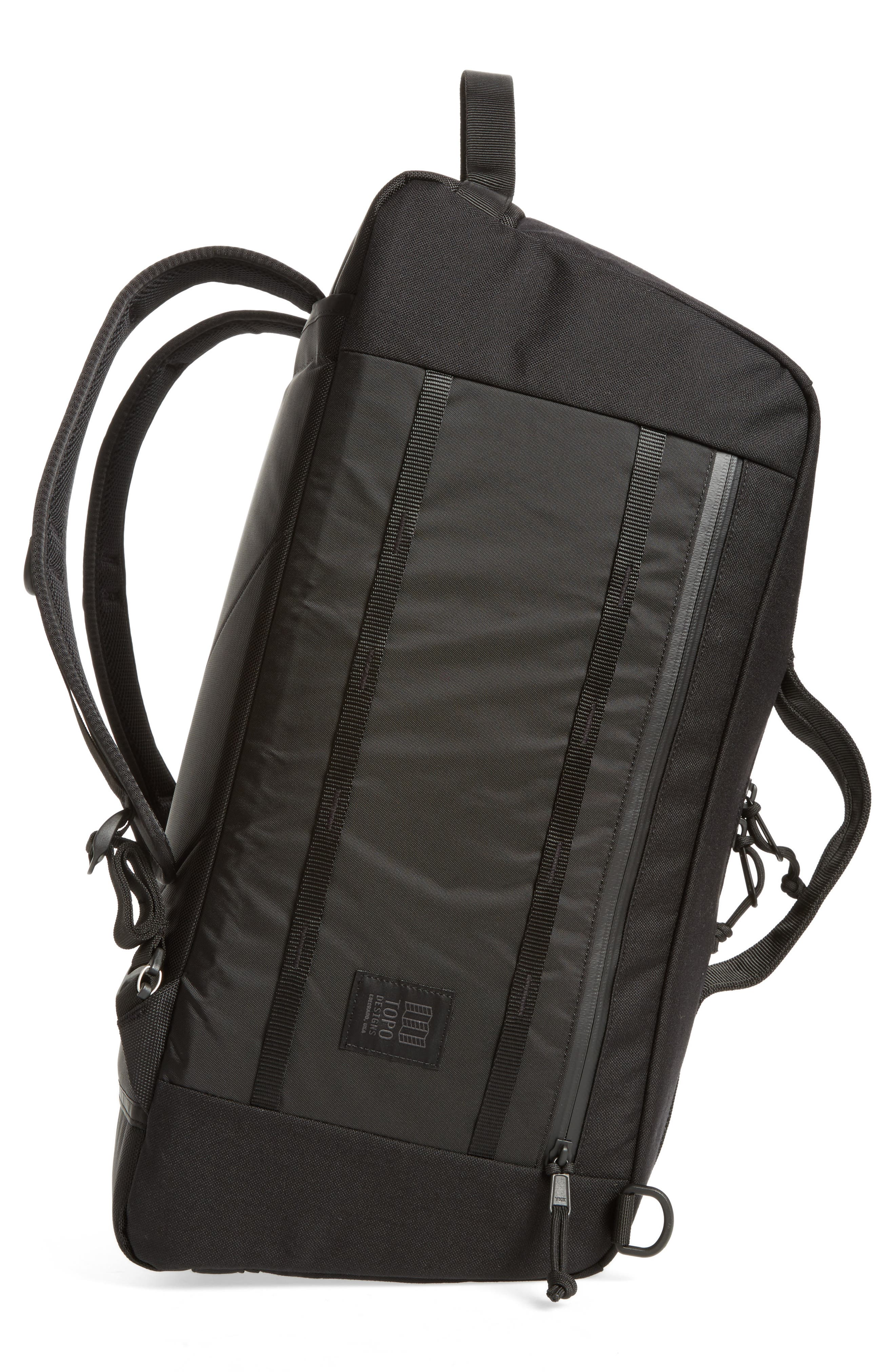 Mountain Convertible Duffel Bag,                             Alternate thumbnail 5, color,                             BLACK