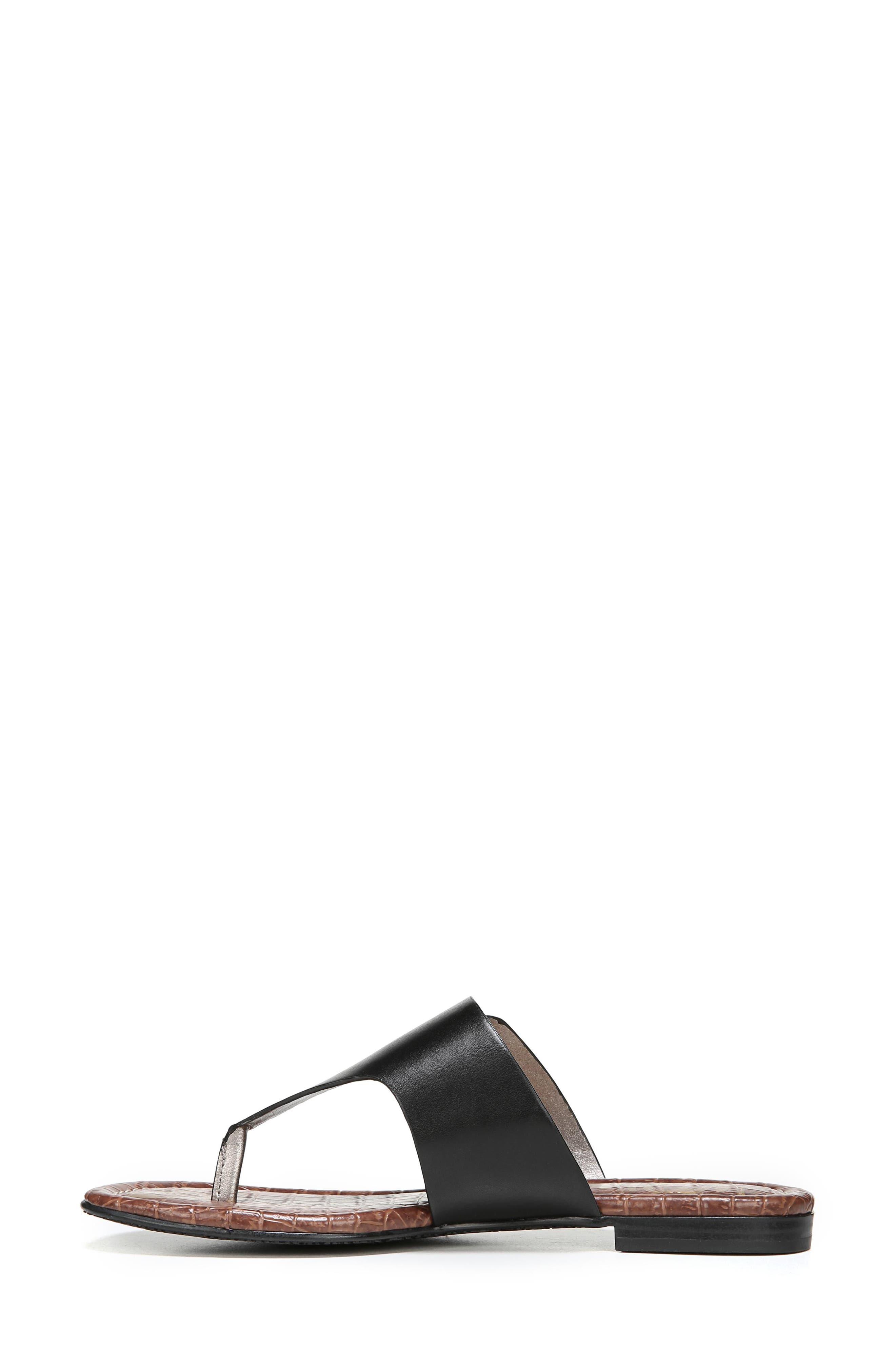 Barry Genuine Calf Hair V-Strap Sandal,                             Alternate thumbnail 3, color,                             001