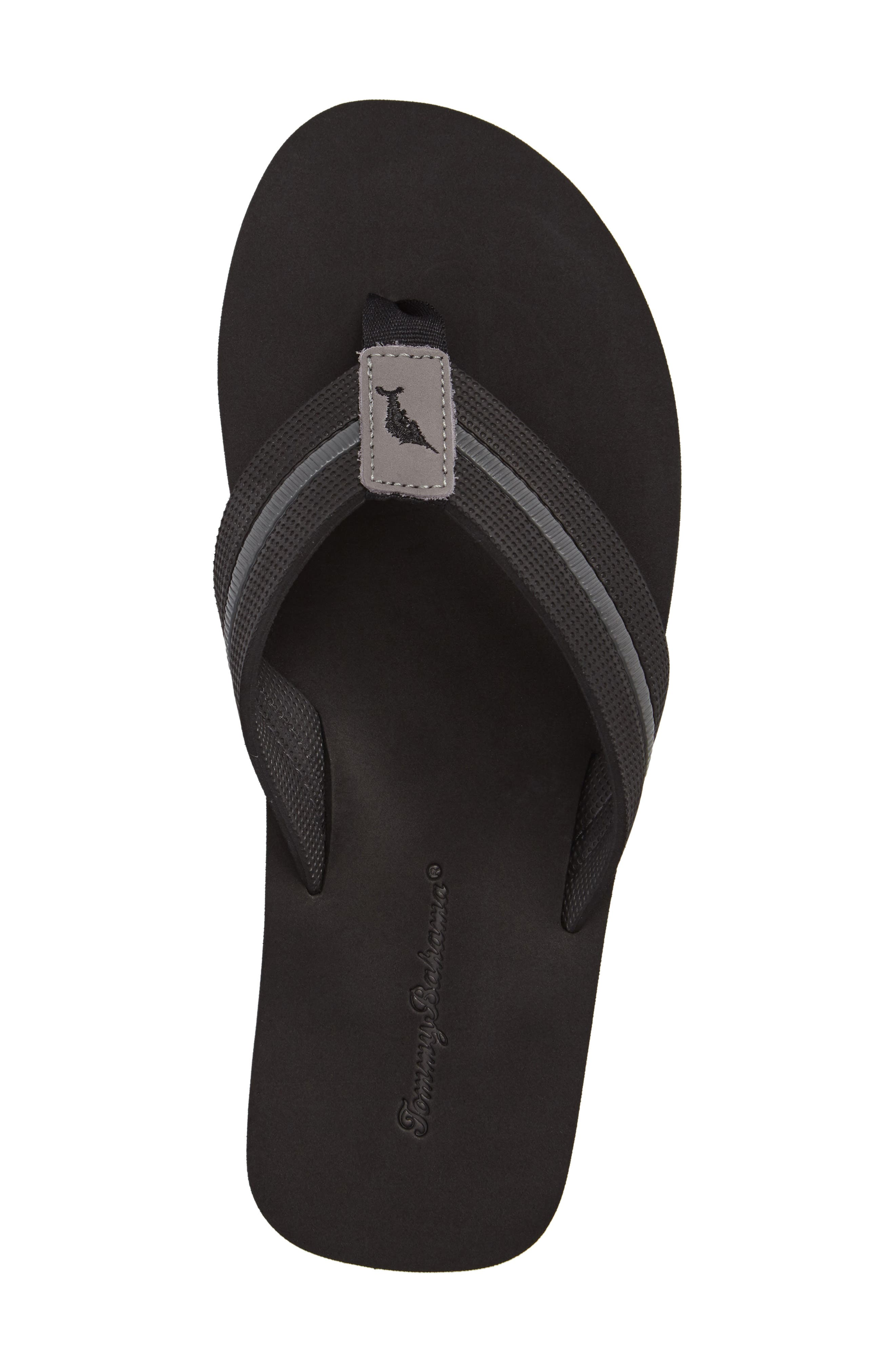 Taheeti Flip Flop,                             Alternate thumbnail 5, color,                             BLACK