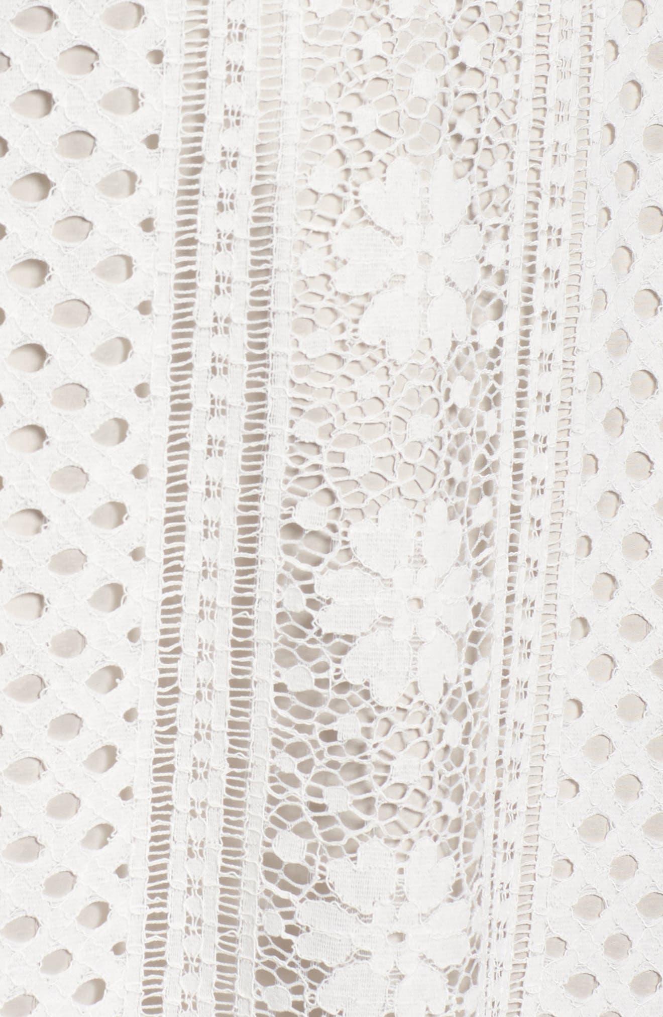 A-Line Lace Dress,                             Alternate thumbnail 5, color,                             901