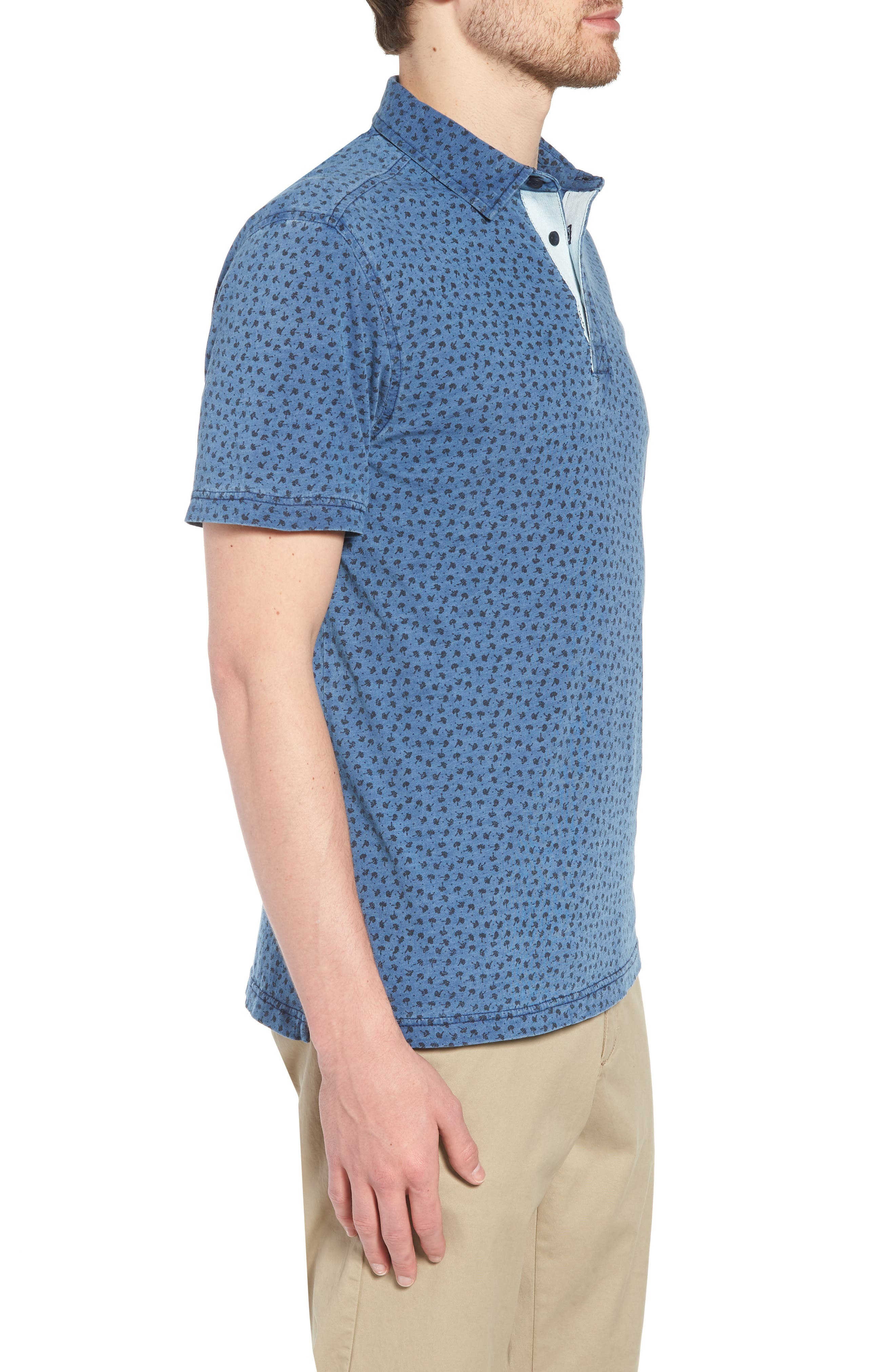 Washed Print Cotton Polo,                             Alternate thumbnail 3, color,                             420