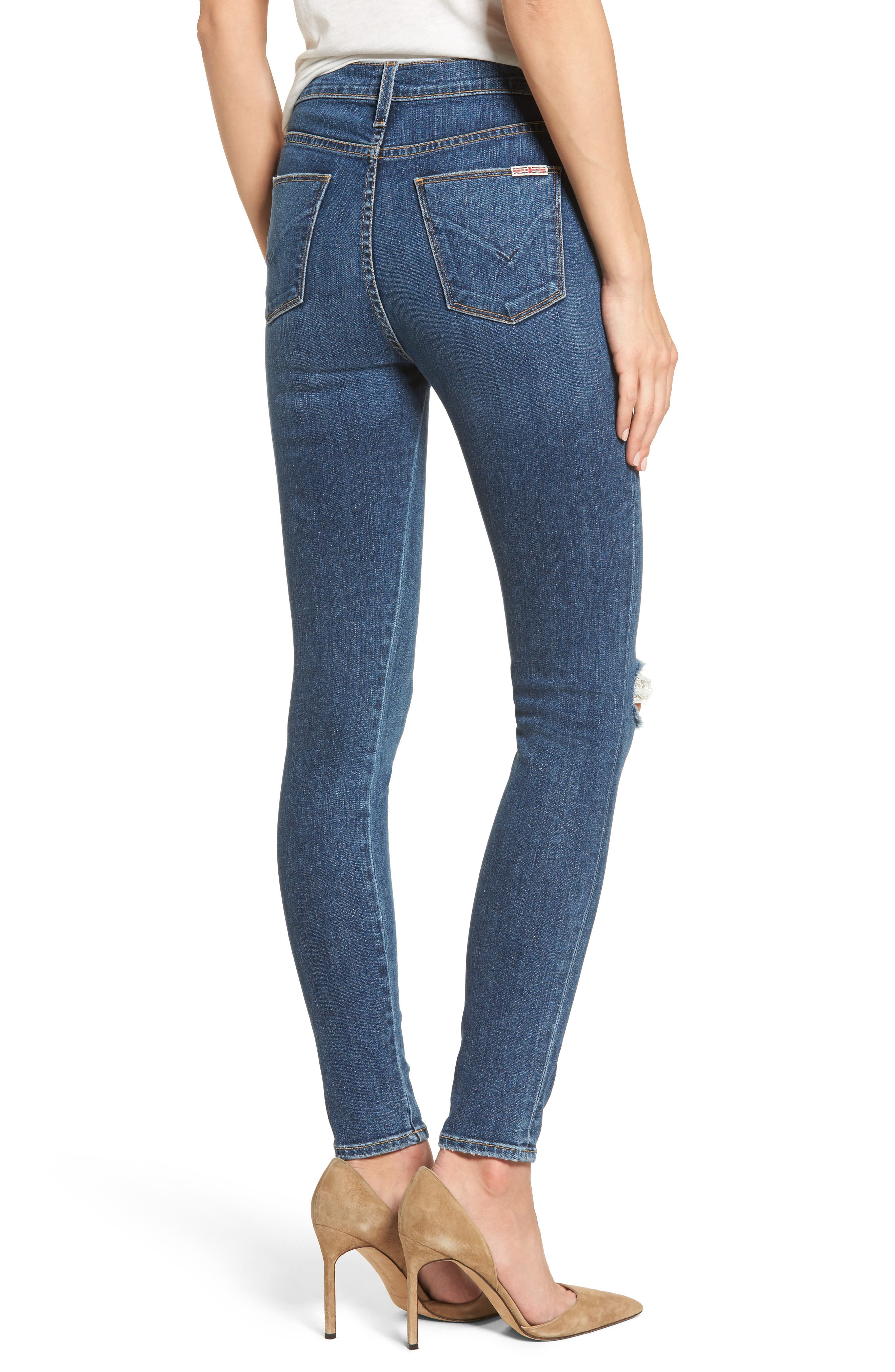 Bullocks Lace-Up High Waist Super Skinny Jeans,                             Alternate thumbnail 2, color,                             421