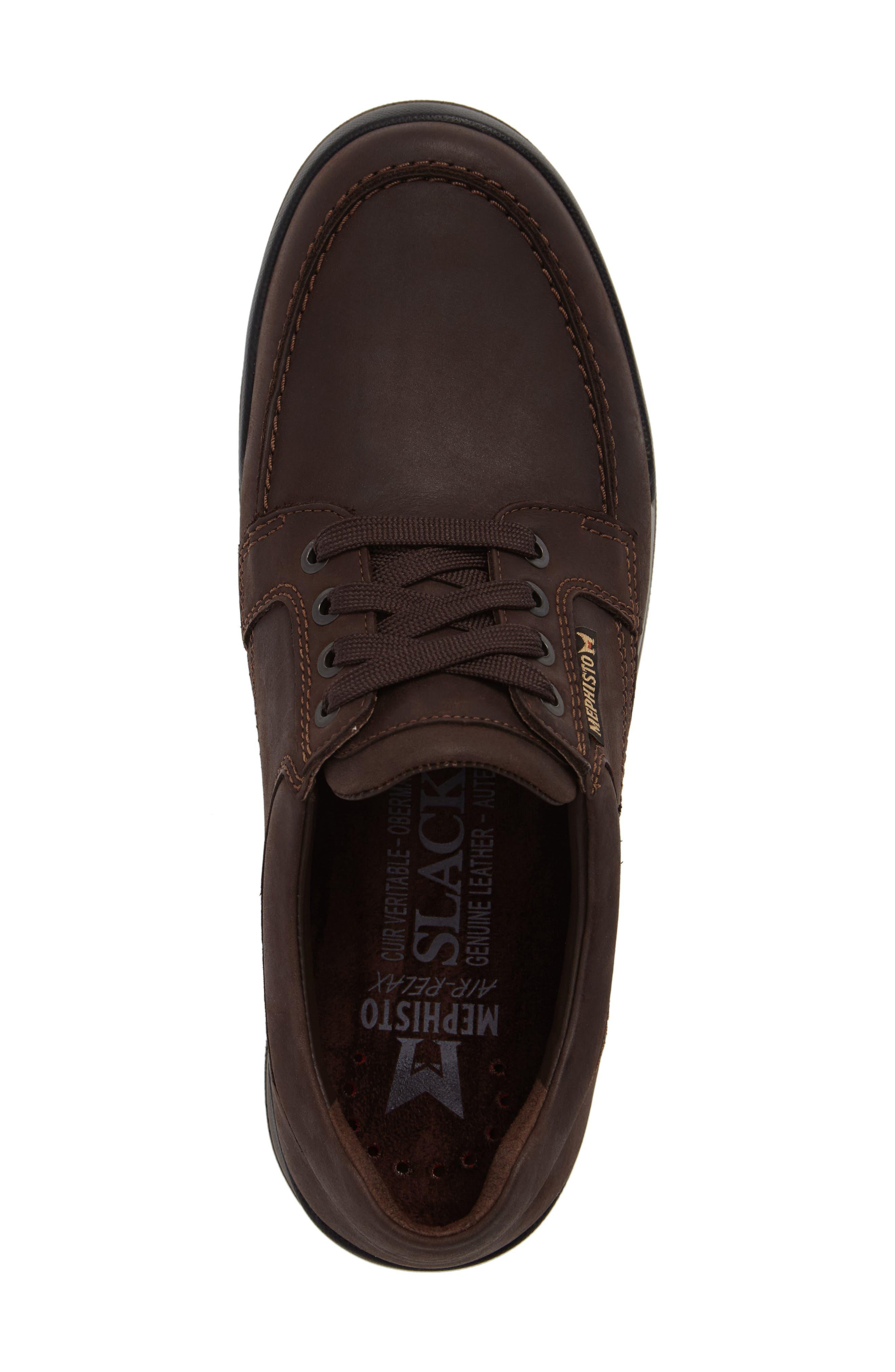 Charles Waterproof Walking Shoe,                             Alternate thumbnail 5, color,                             DARK BROWN