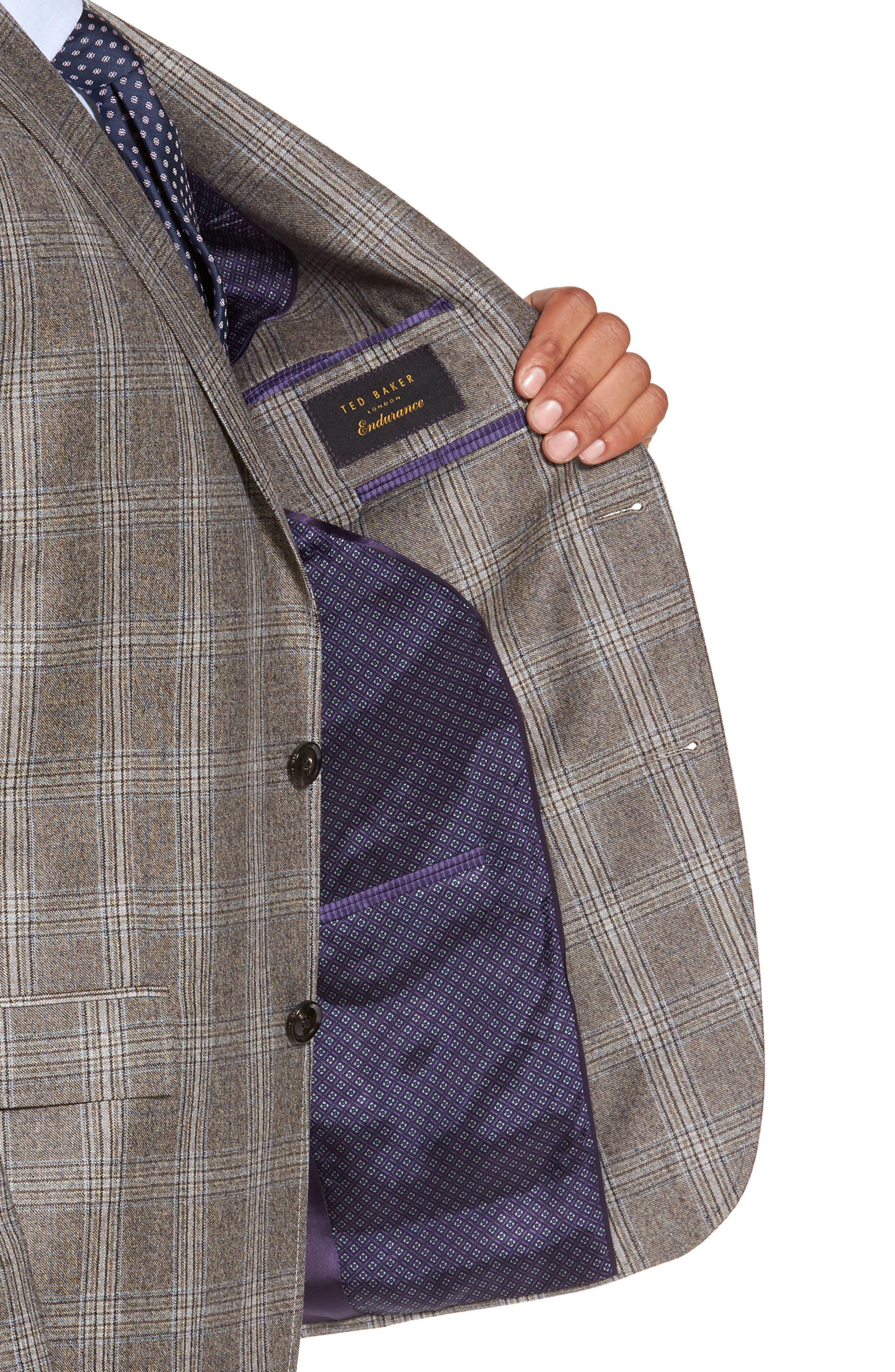 Jay Trim Fit Plaid Wool Sport Coat,                             Alternate thumbnail 4, color,                             230