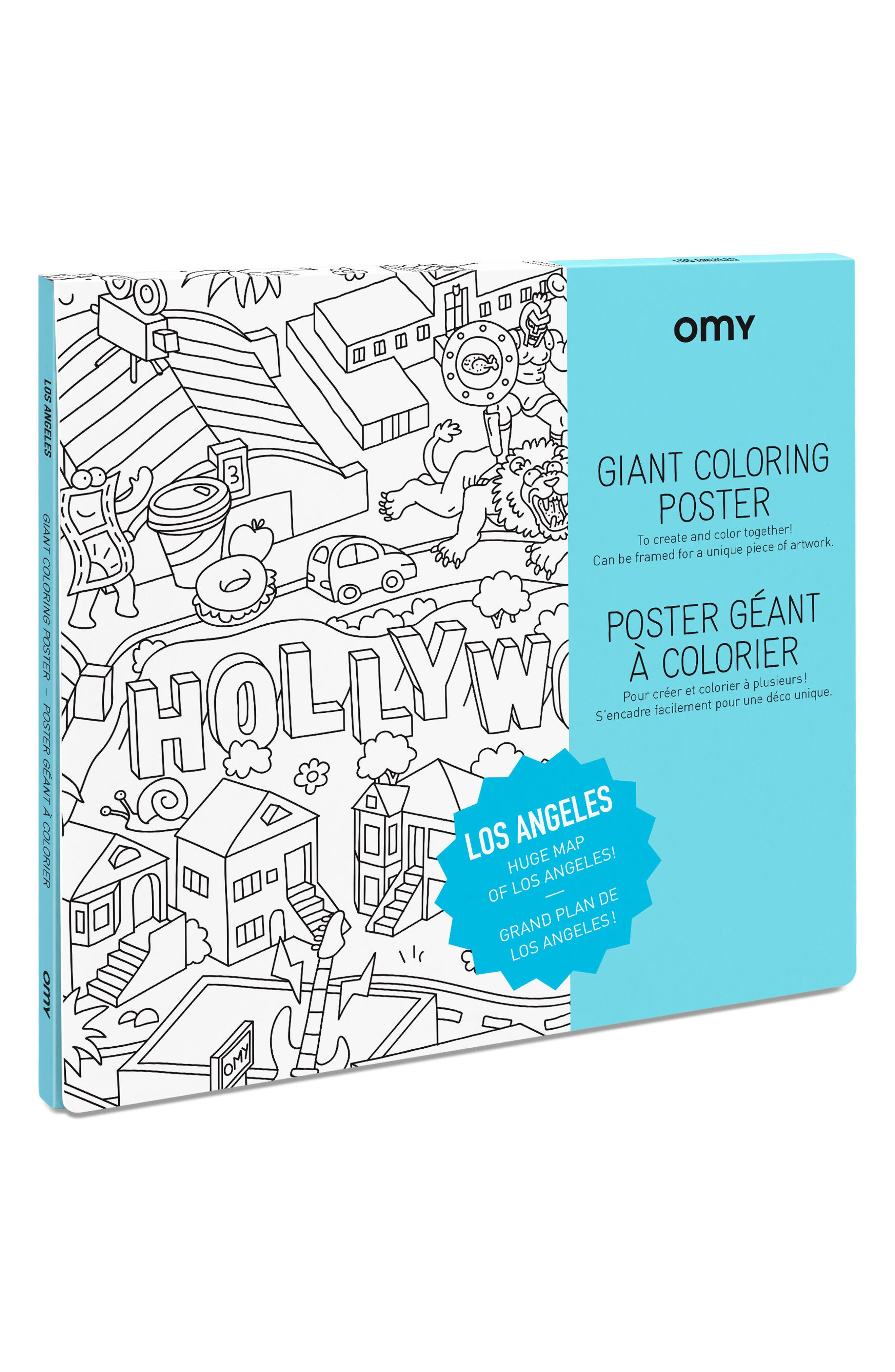 Los Angeles Giant Coloring Poster,                             Main thumbnail 1, color,