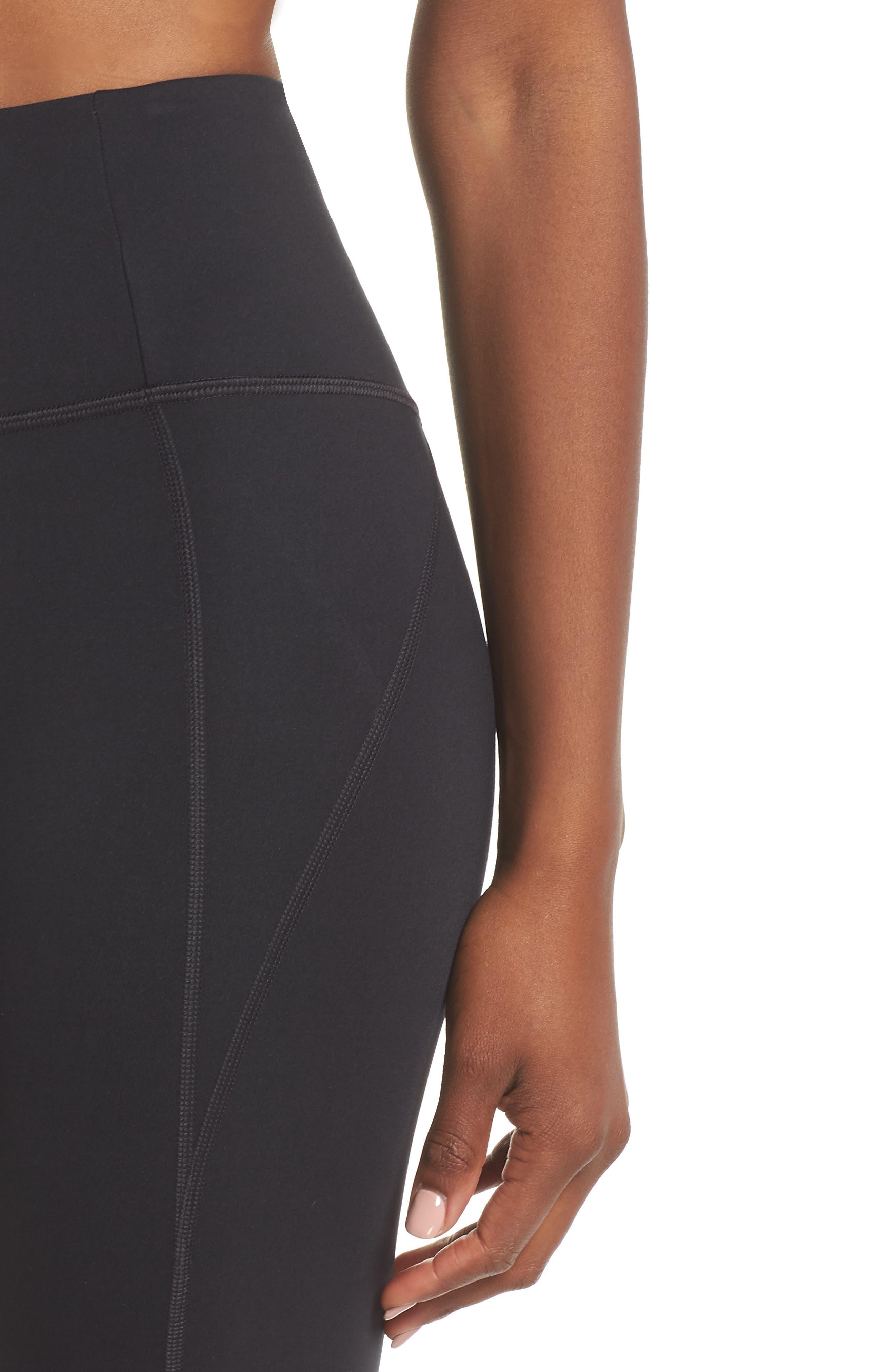 GIRLFRIEND COLLECTIVE, High Waist Full Length Leggings, Alternate thumbnail 5, color, BLACK