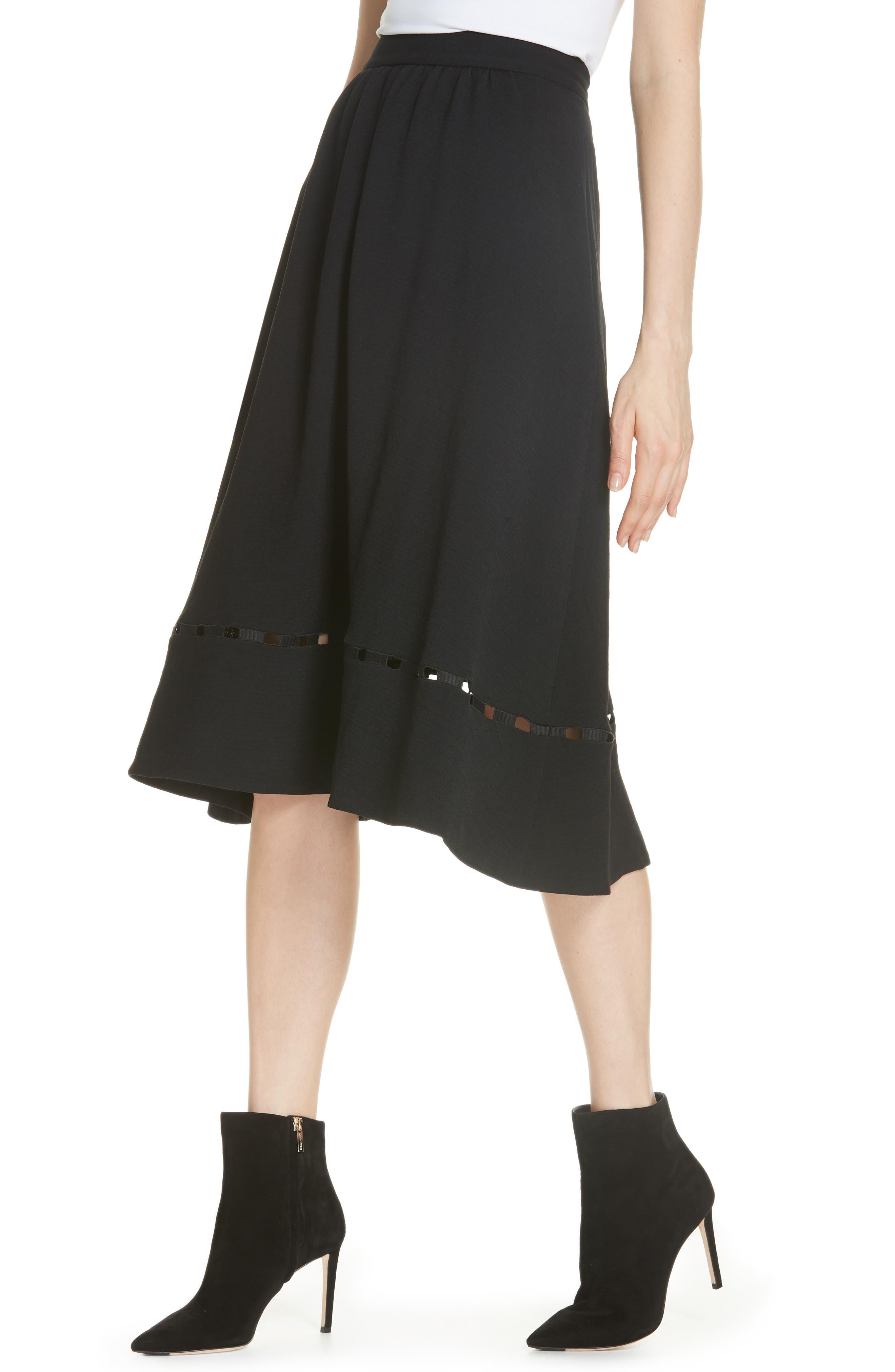 Carmen A-Line Skirt,                             Alternate thumbnail 4, color,                             NOIR