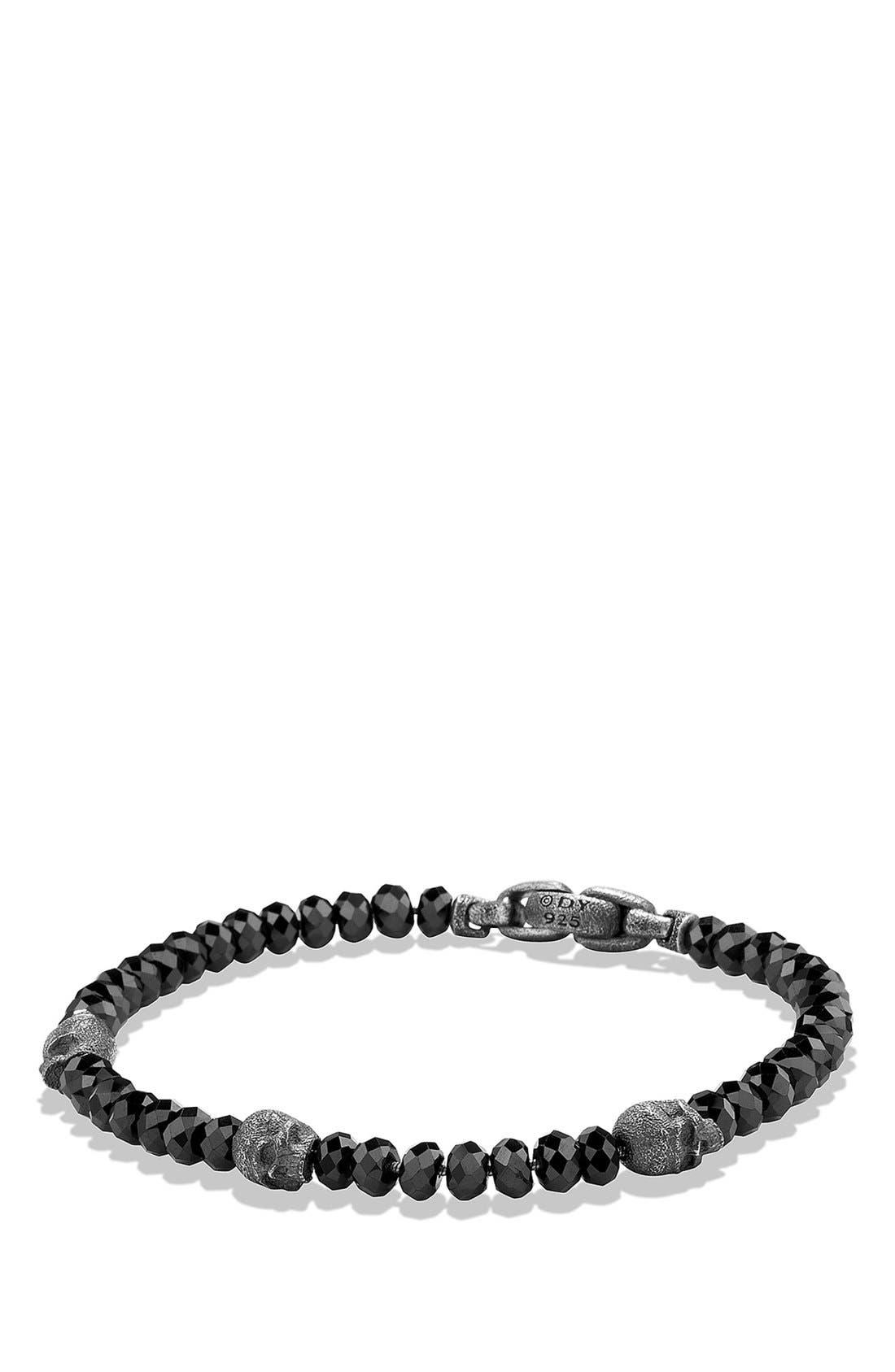 'Spiritual Beads' Skull Bracelet, Main, color, 005