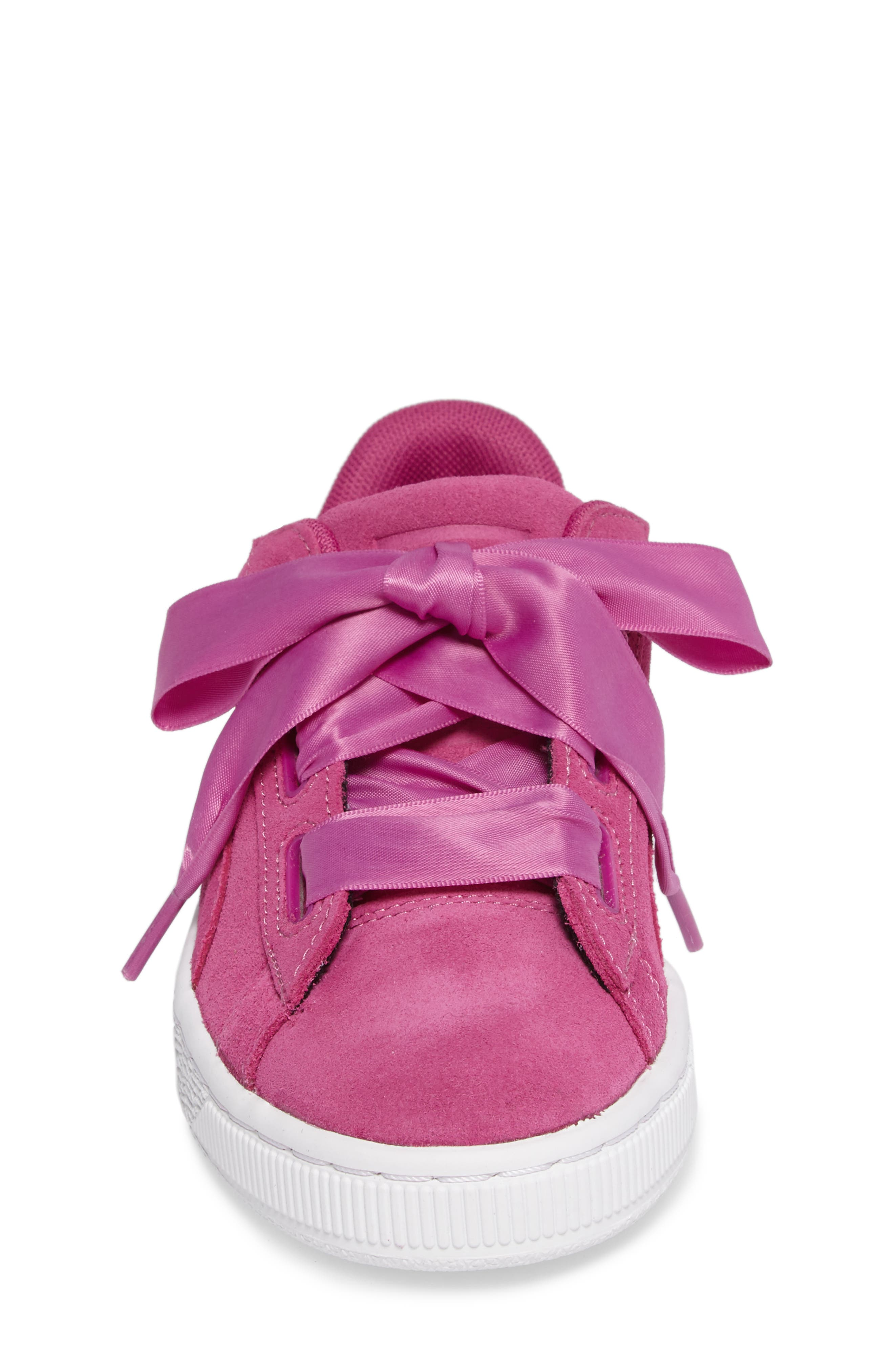 Suede Heart Sneaker,                             Alternate thumbnail 4, color,                             690
